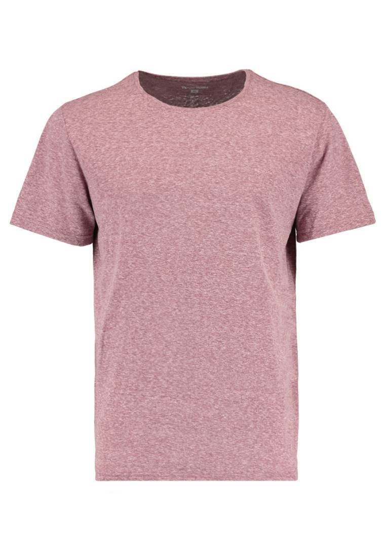 YOURTURN Mottled bordeaux Basic T-shirt