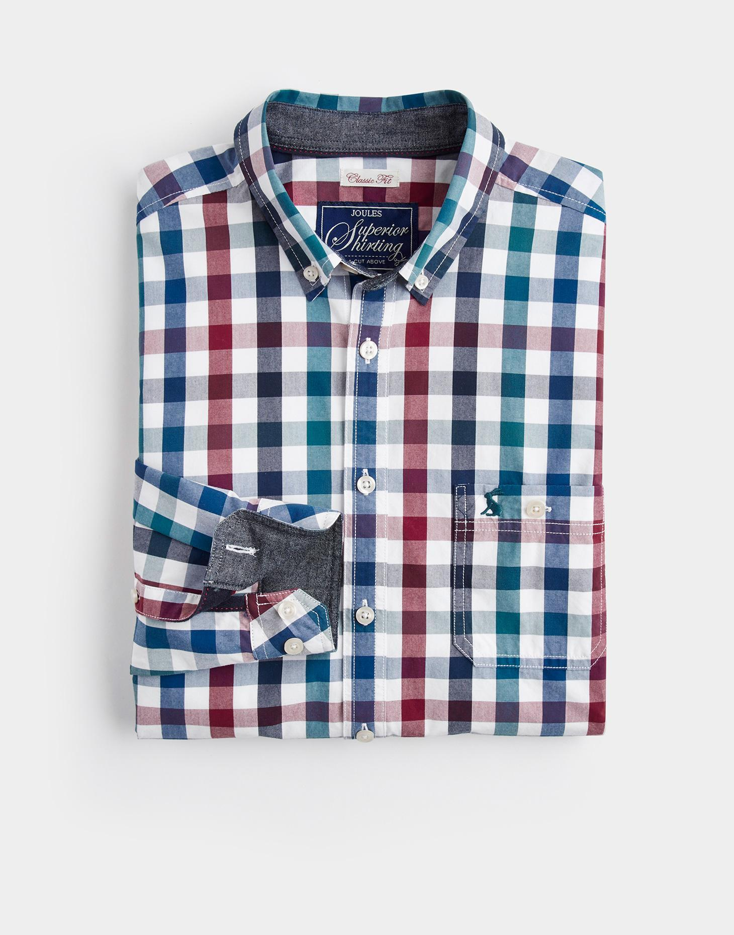 Joules Multi Gingham HEWNEY Classic Fit Shirt