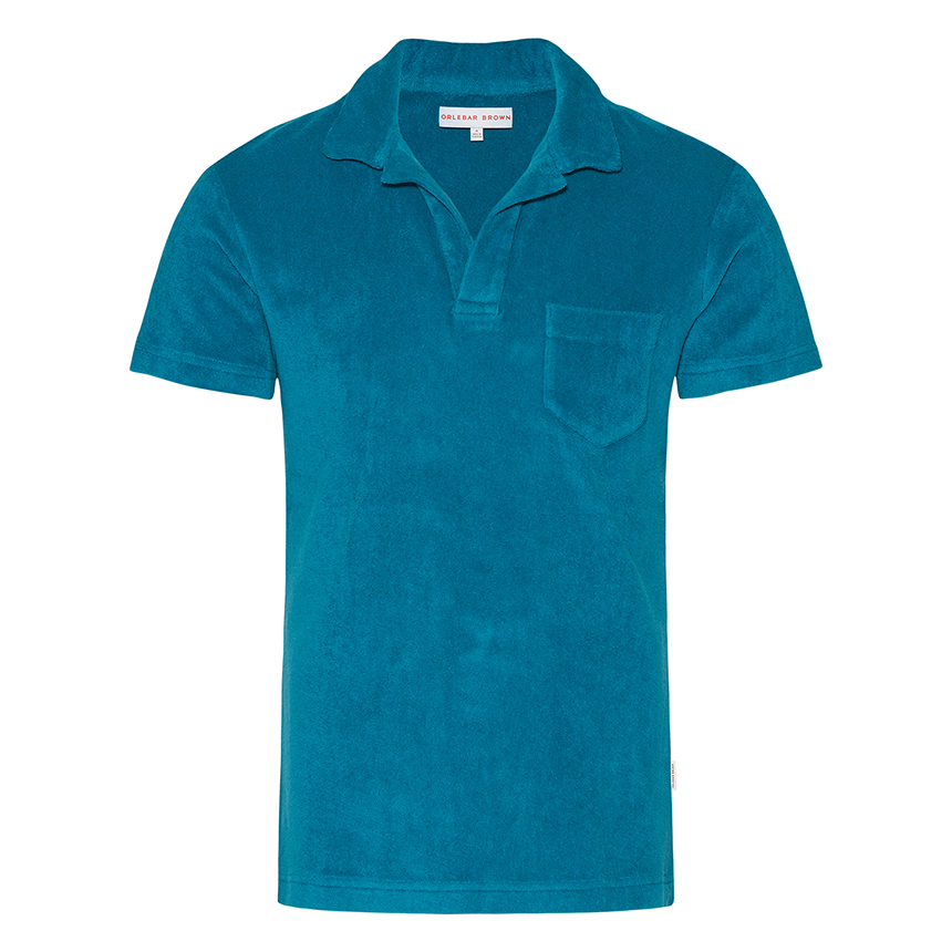 Orlebar Brown TERRY Deep Sea Towelling Resort Polo