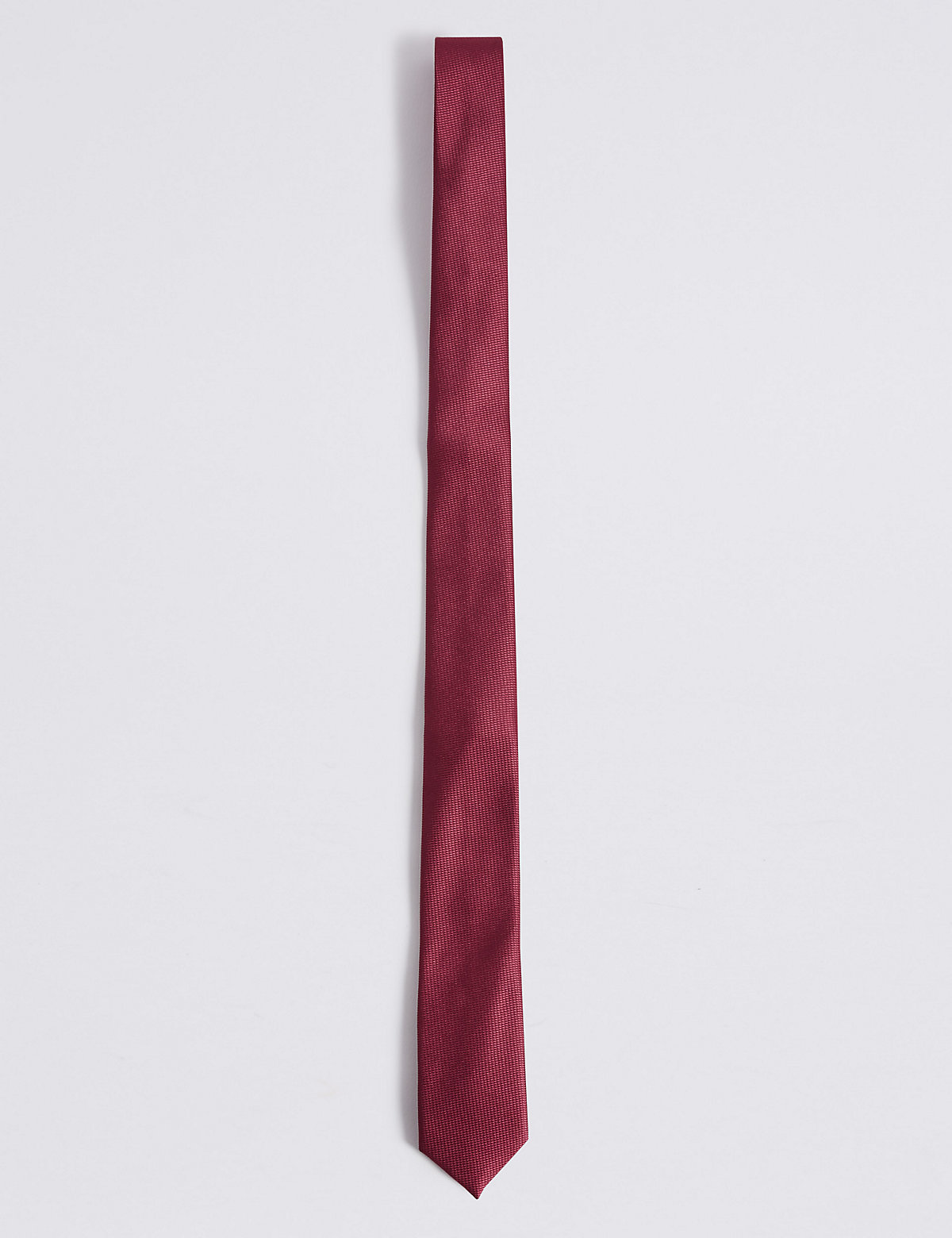 Marks & Spencer Cranberry Skinny Textured Tie