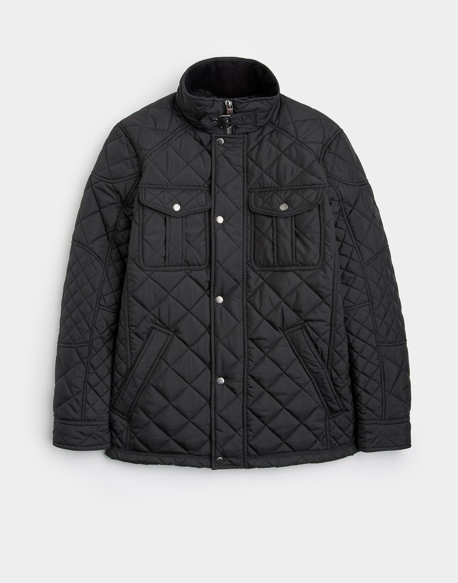 Joules Black HOLMWOOD Quilted Jacket