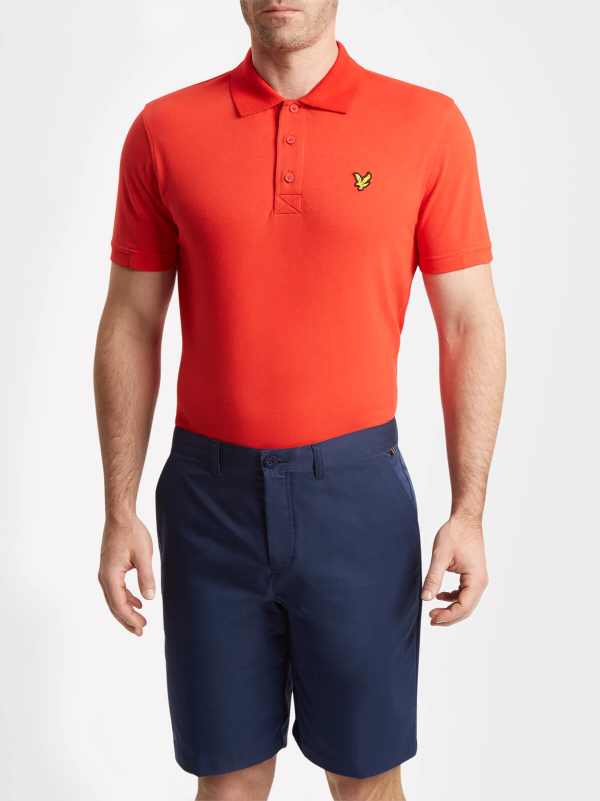 Lyle and Scott Pavilion Red Kelso Golf Polo Shirt