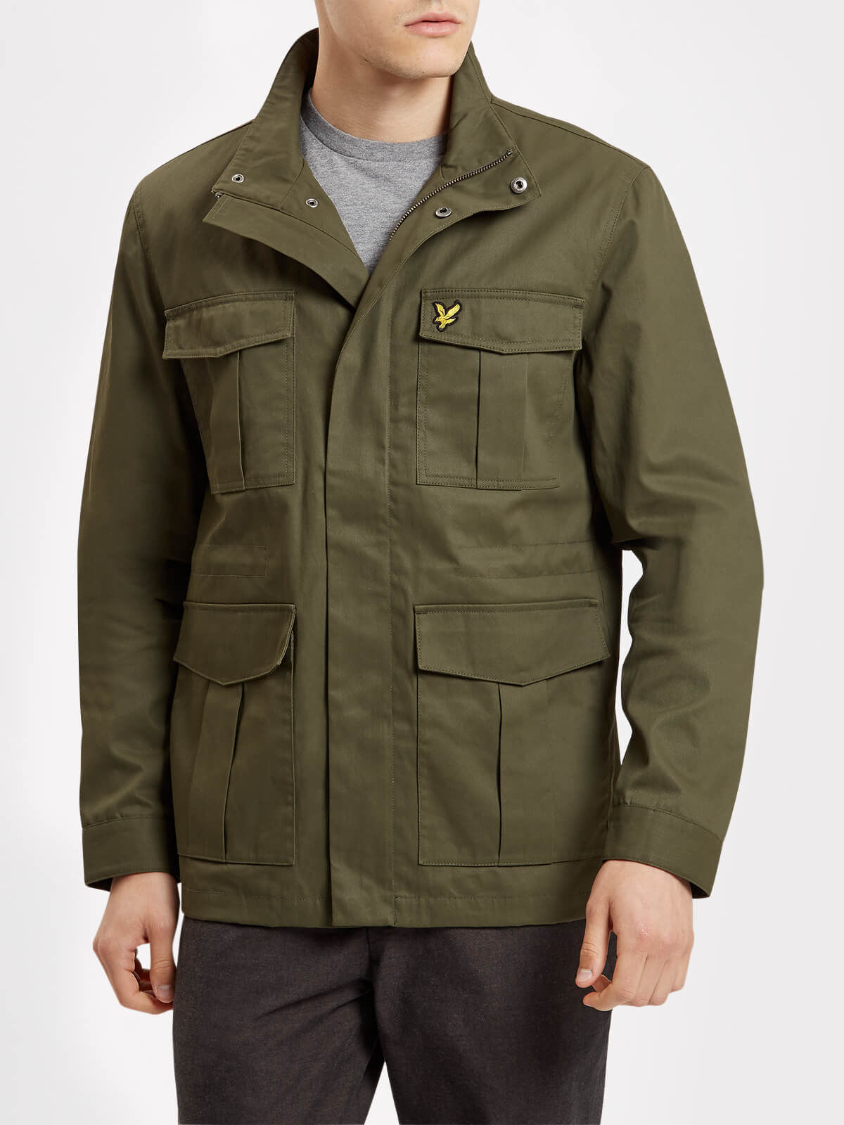 Lyle and Scott Olive Field Jacket