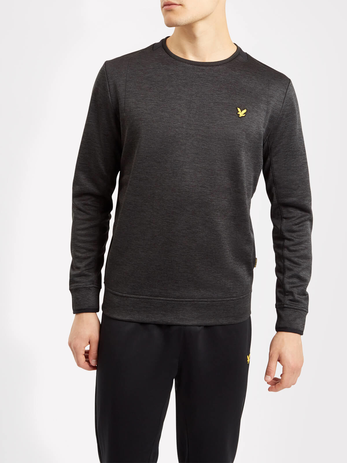 Lyle and Scott True Black Byrne Crew Neck Sports Jumper