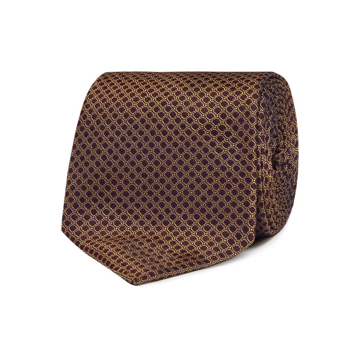 Hammond & Co. by Patrick Grant Gold textured honeycomb tie