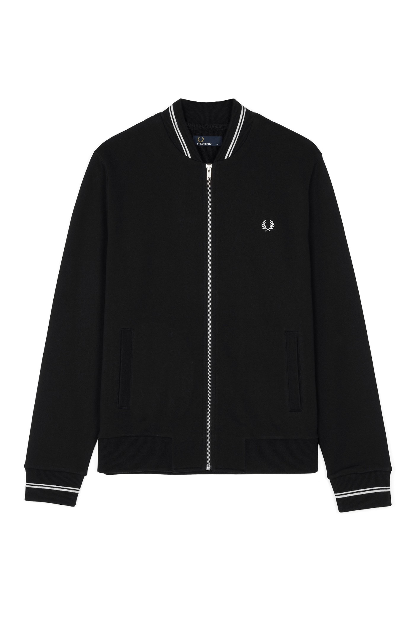 Fred Perry Bomber Neck Zip-Through Sweat
