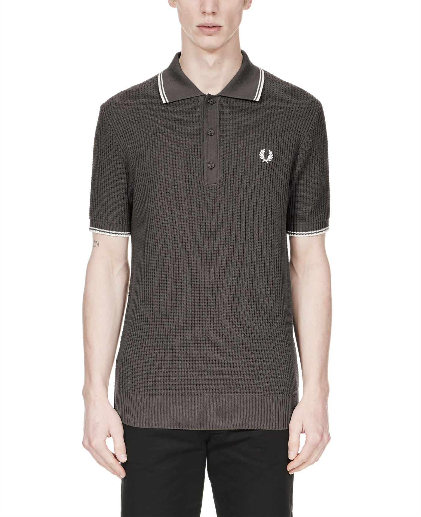 Fred Perry Reissues Textured Knitted Shirt
