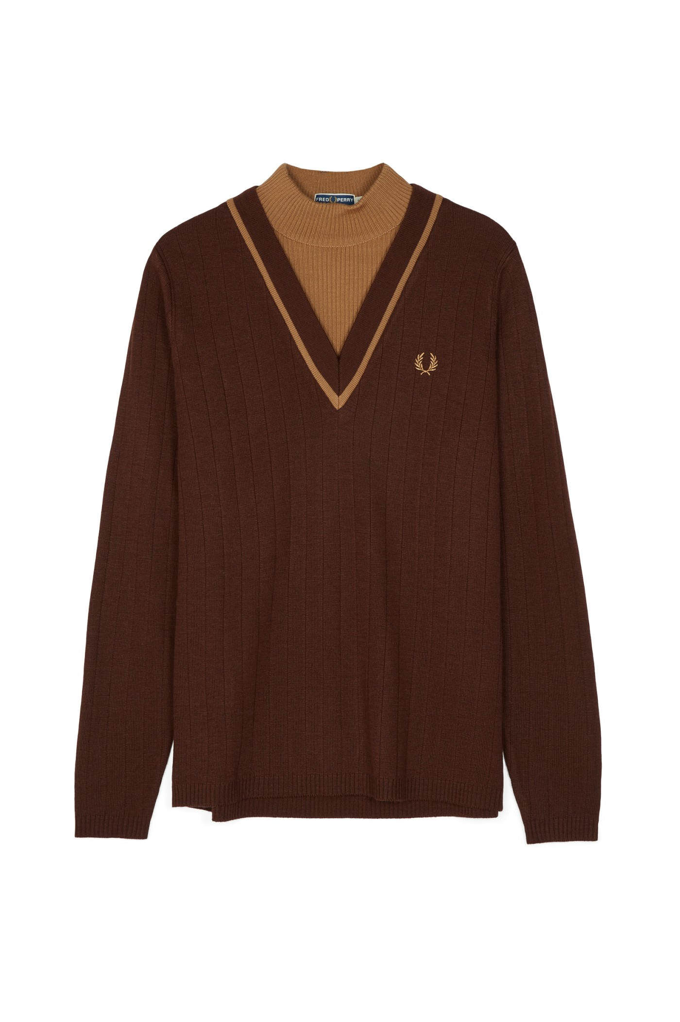 Fred Perry Reissues Layered Turtle Neck Jumper