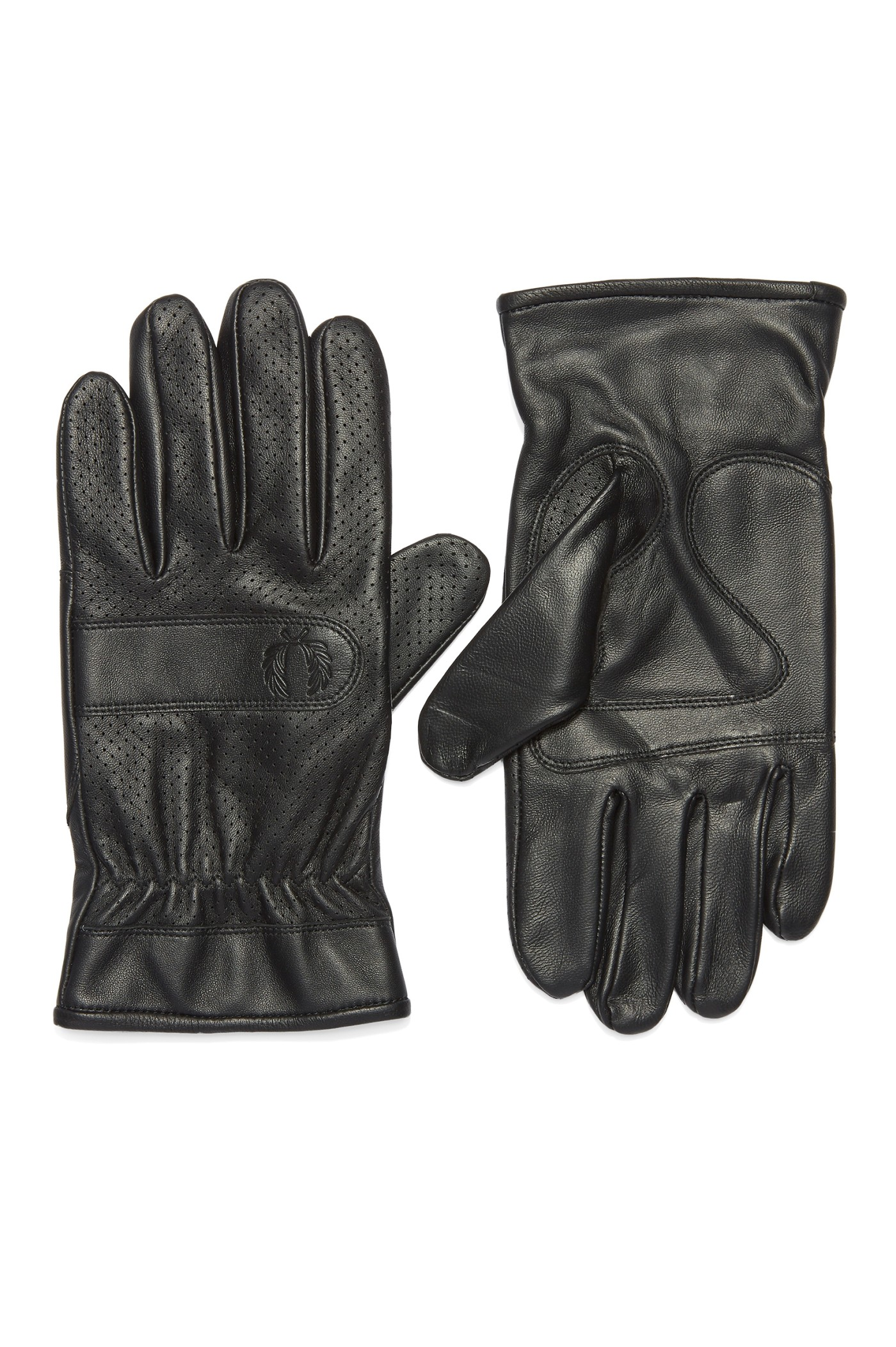 Fred Perry Perforated Leather Gloves