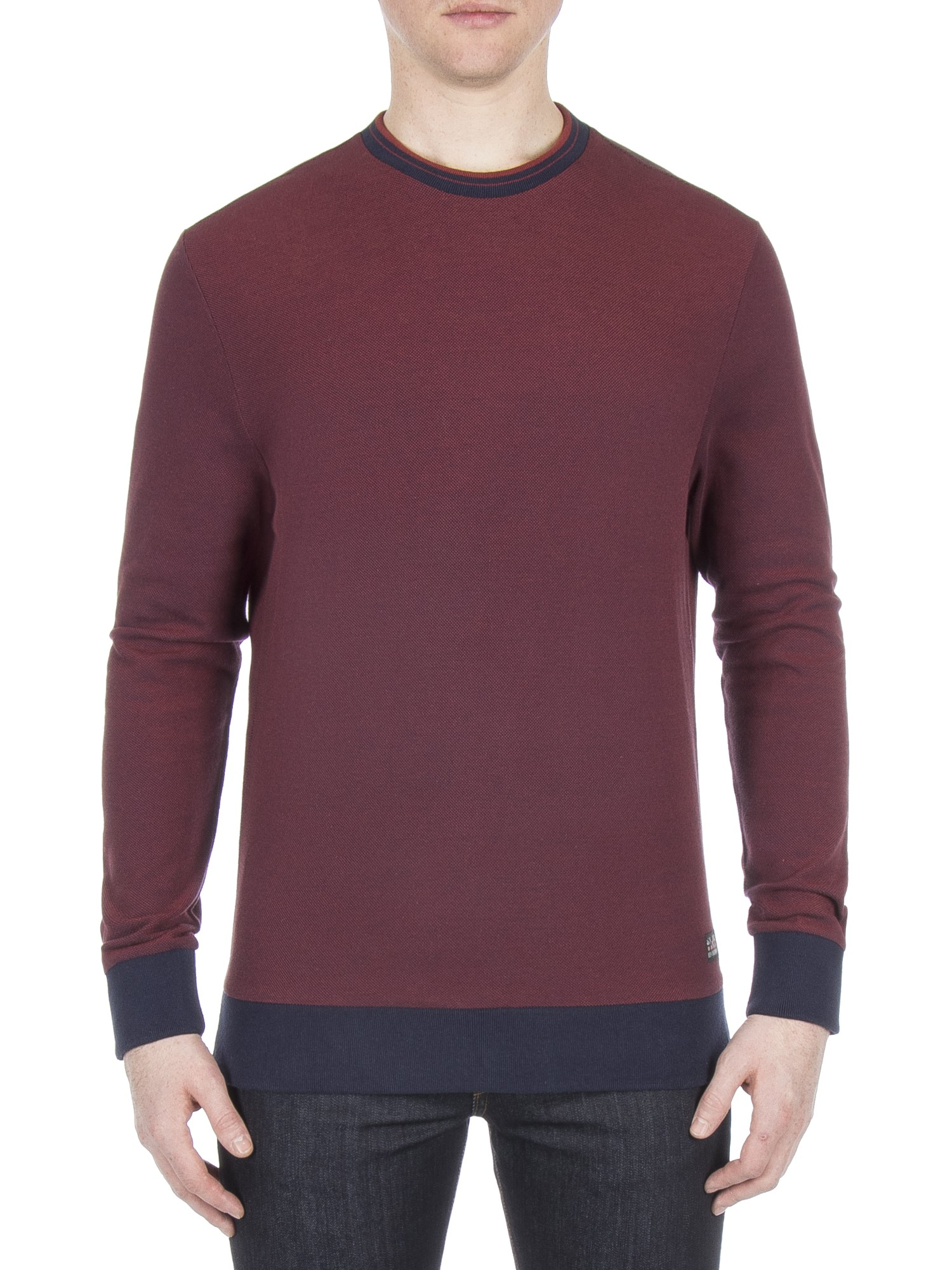 Ben Sherman Rust Tipped Honey Pique Jumper