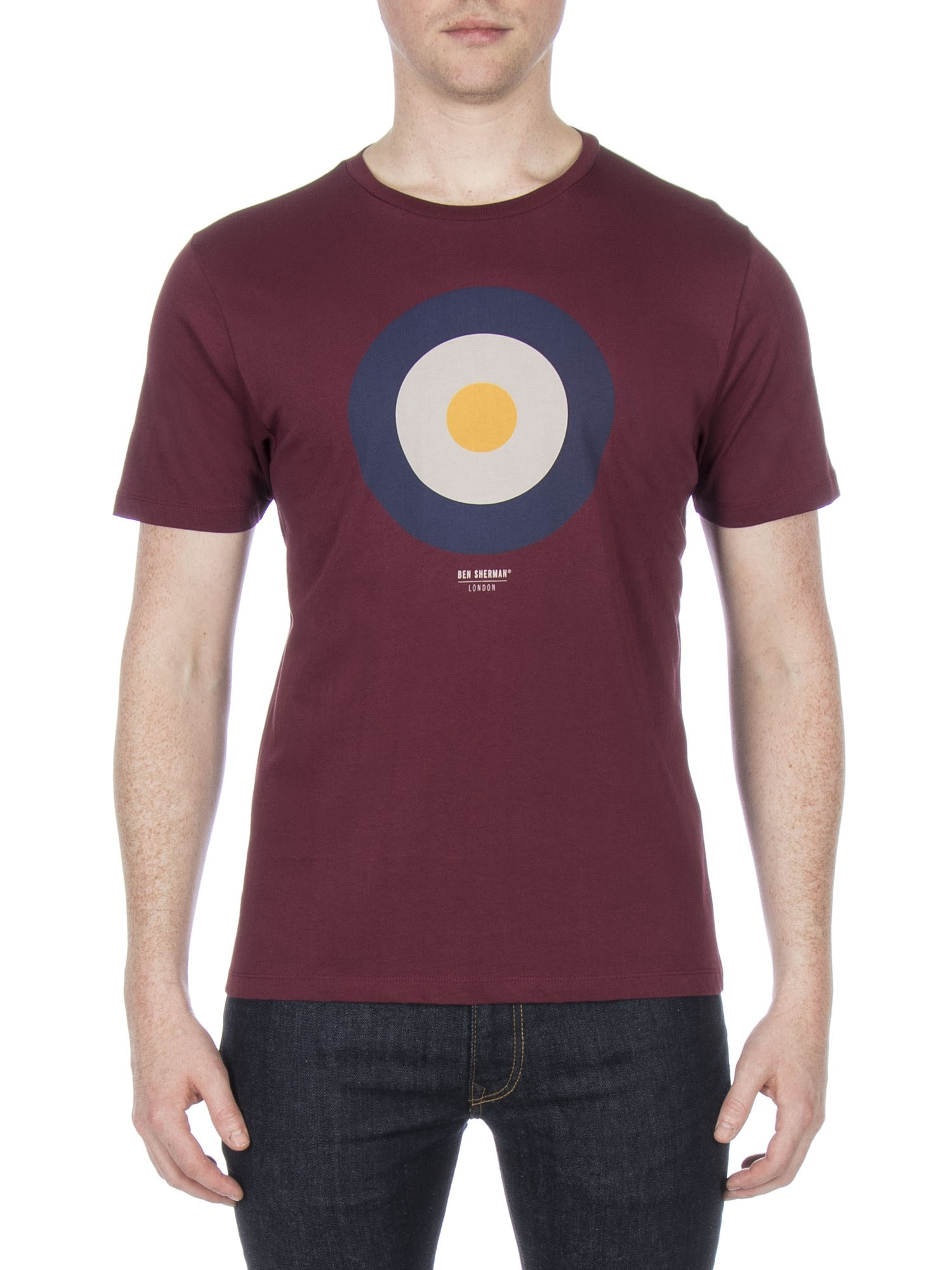 Ben Sherman Windsor Wine Target T-Shirt