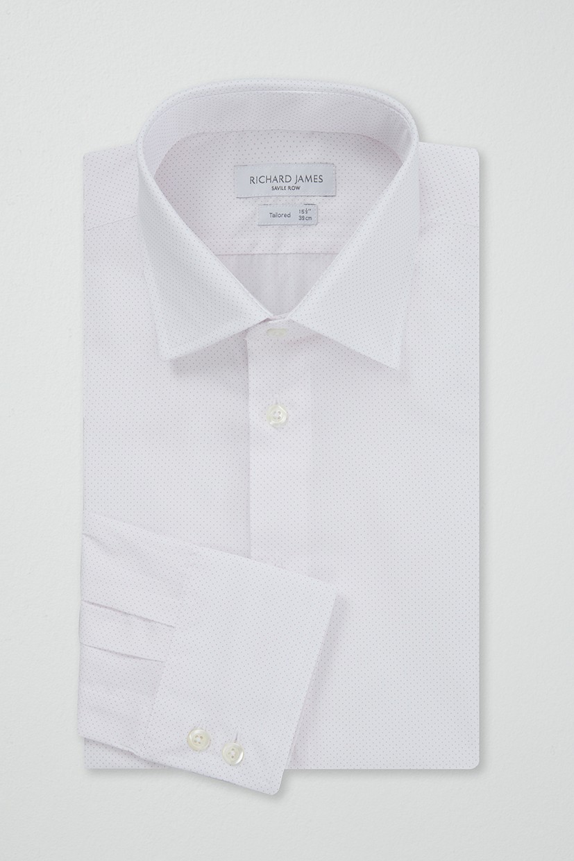 Richard James Tailored Shirt - Pink Pin Spot