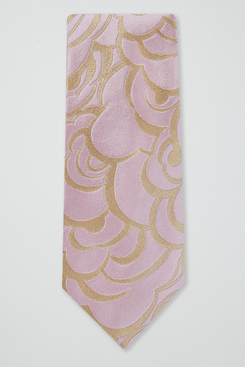 Richard James Slim Richard James Tie – Old Pink Abstract Floral