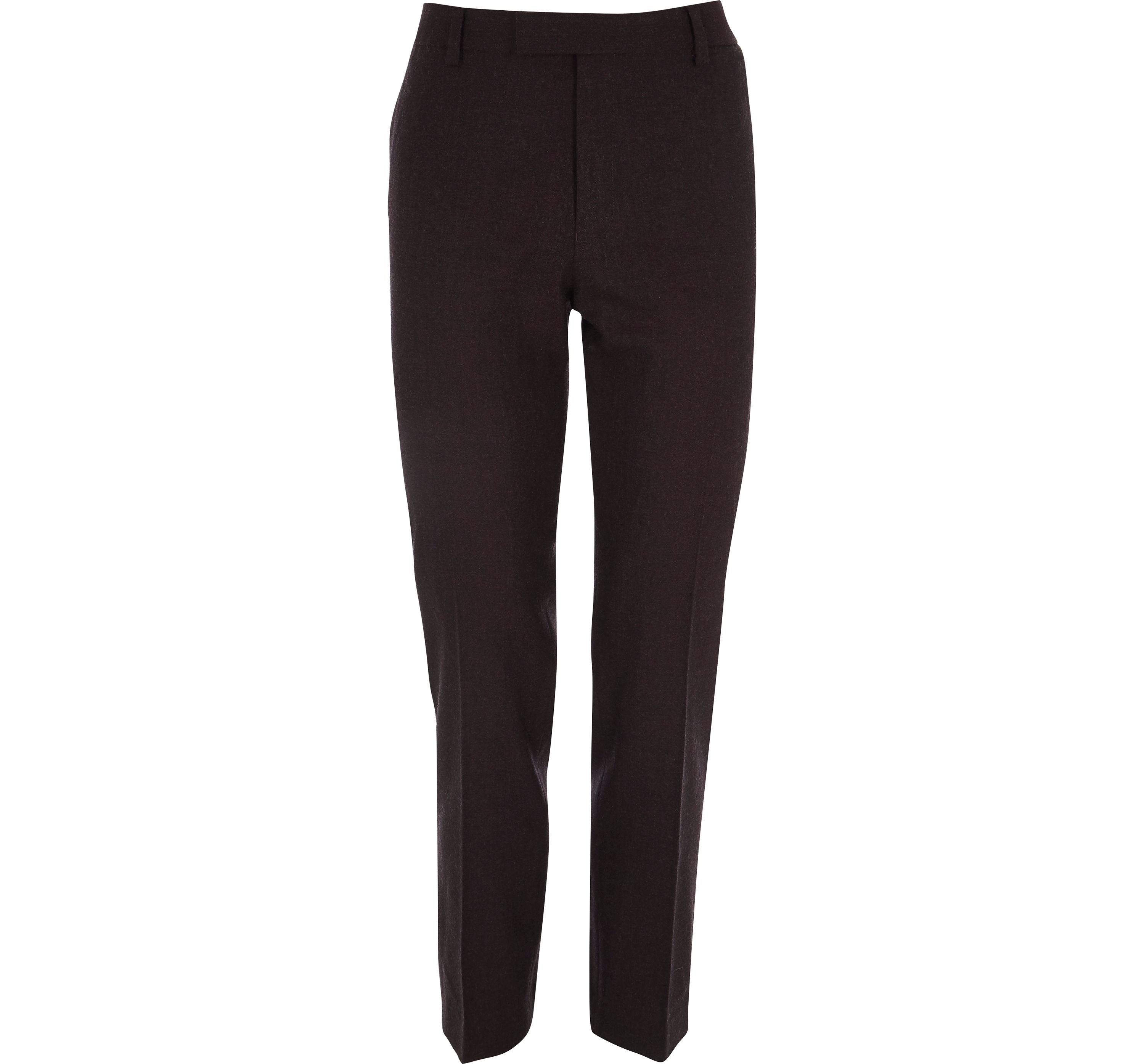 River Island Red Mens Burgundy skinny fit wool blend suit trousers