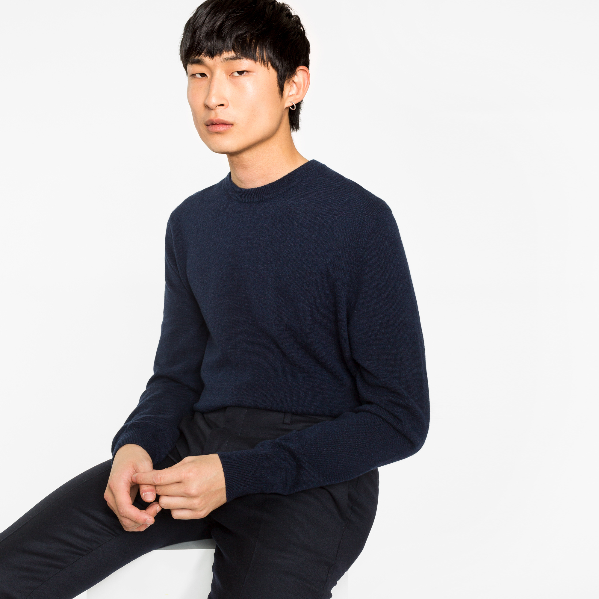 Paul Smith Men's Navy Cashmere Sweater