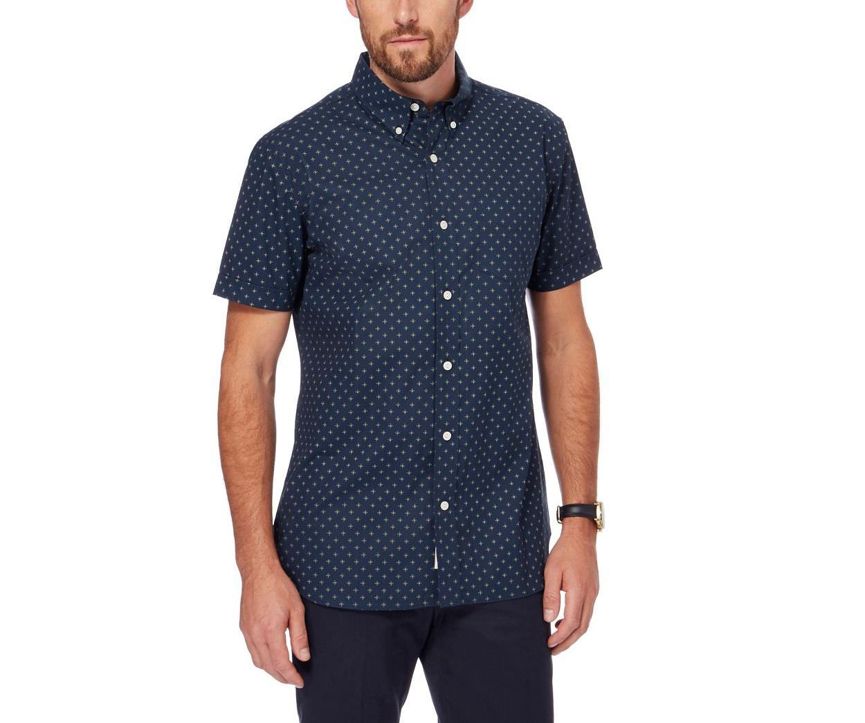 Hammond & Co. by Patrick Grant Blue Navy printed shirt