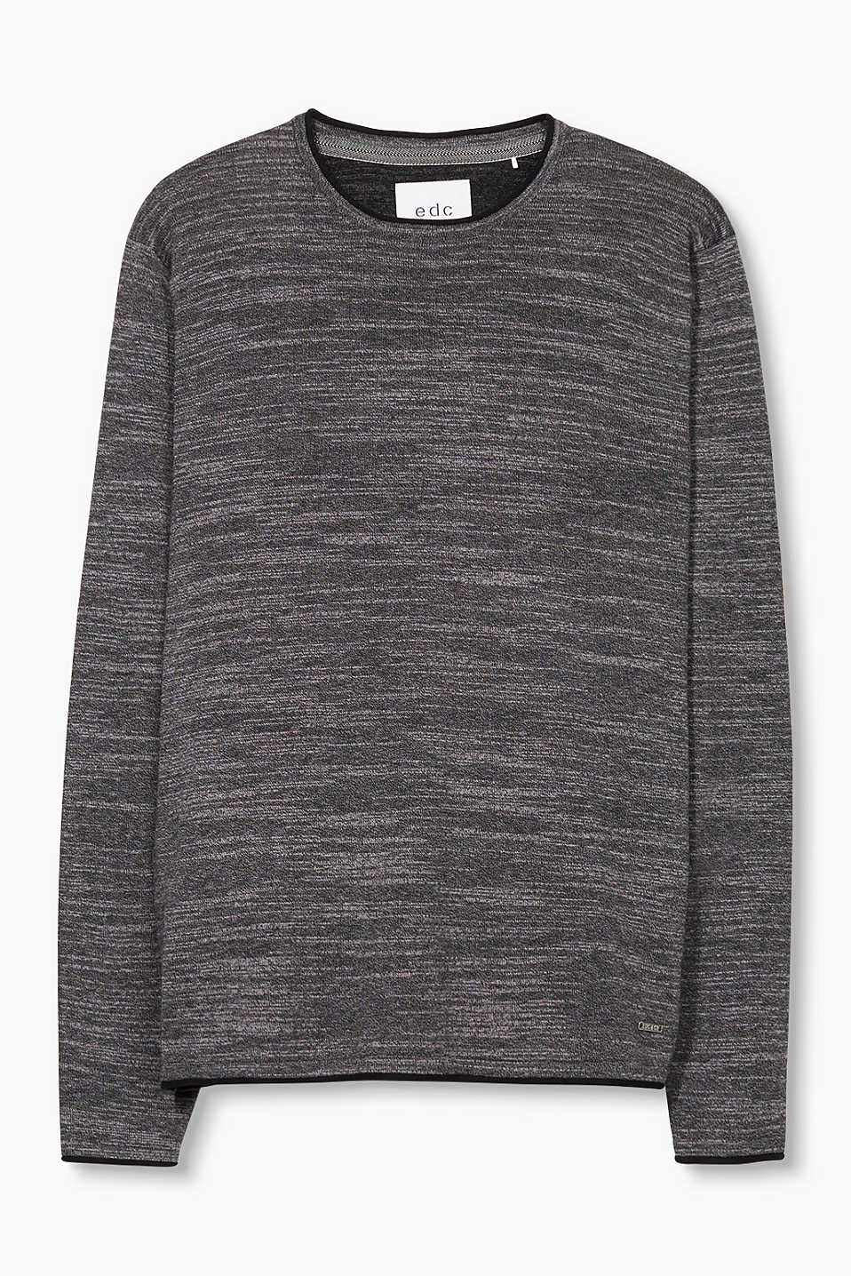 Esprit Grey - 001 Slub Sweater