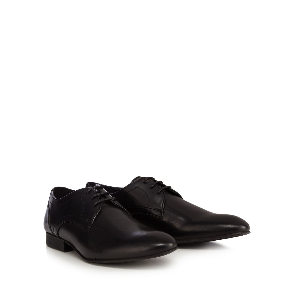 Red Herring Black leather 'Ronnie' derby shoes