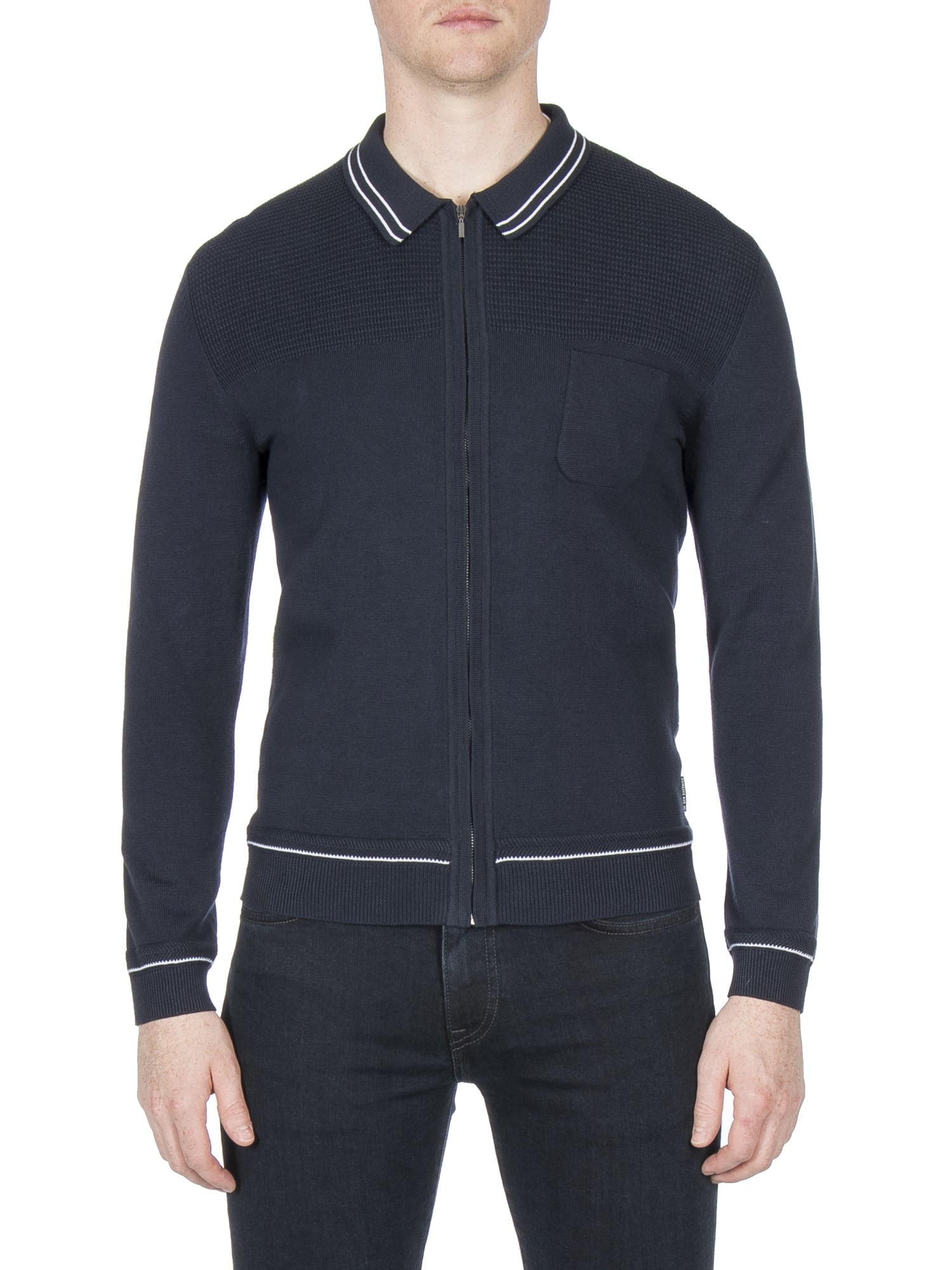 Ben Sherman Navy Knitted Milano Jacket