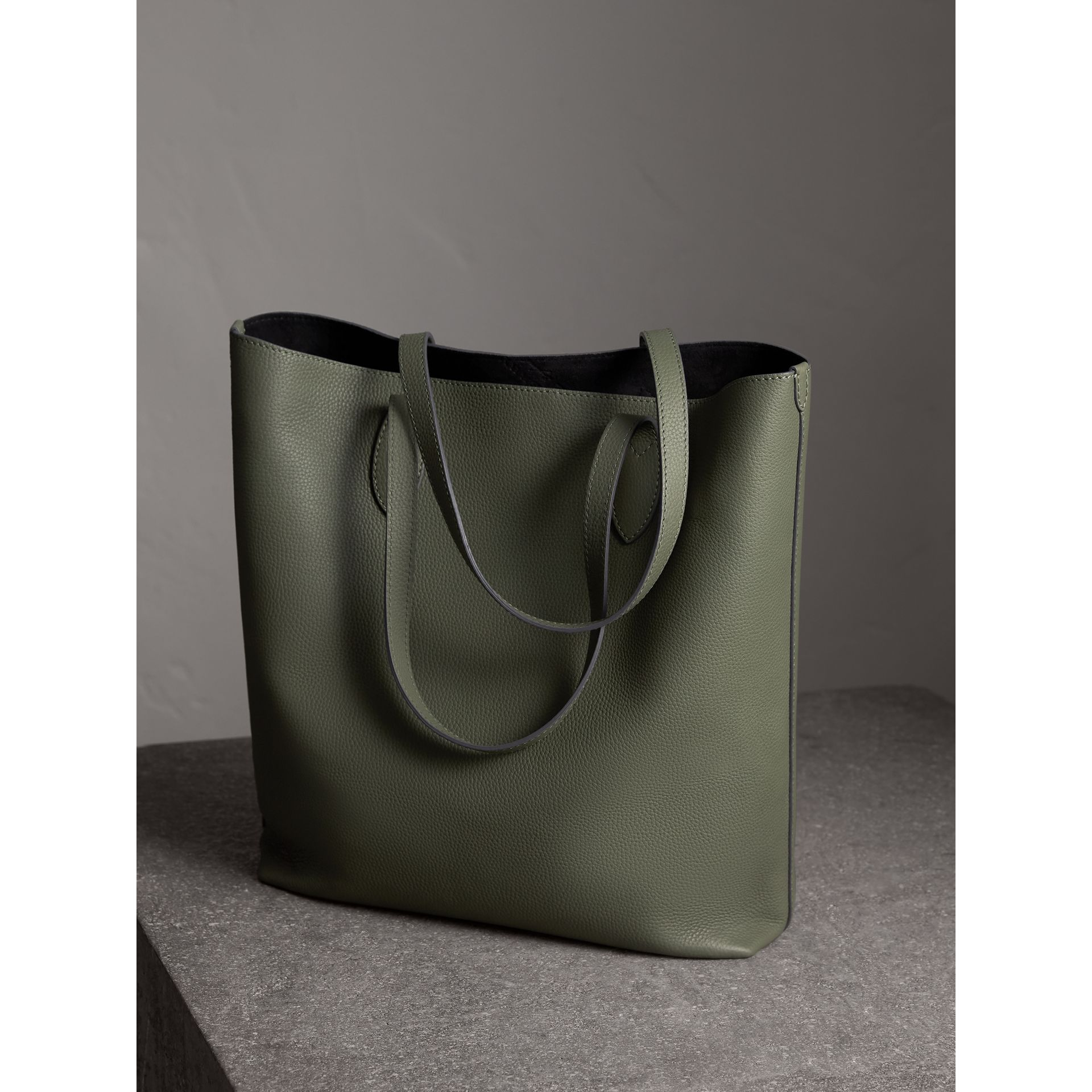 387b0b7e2e89 Medium Embossed Leather Tote Bag by Burberry — Thread