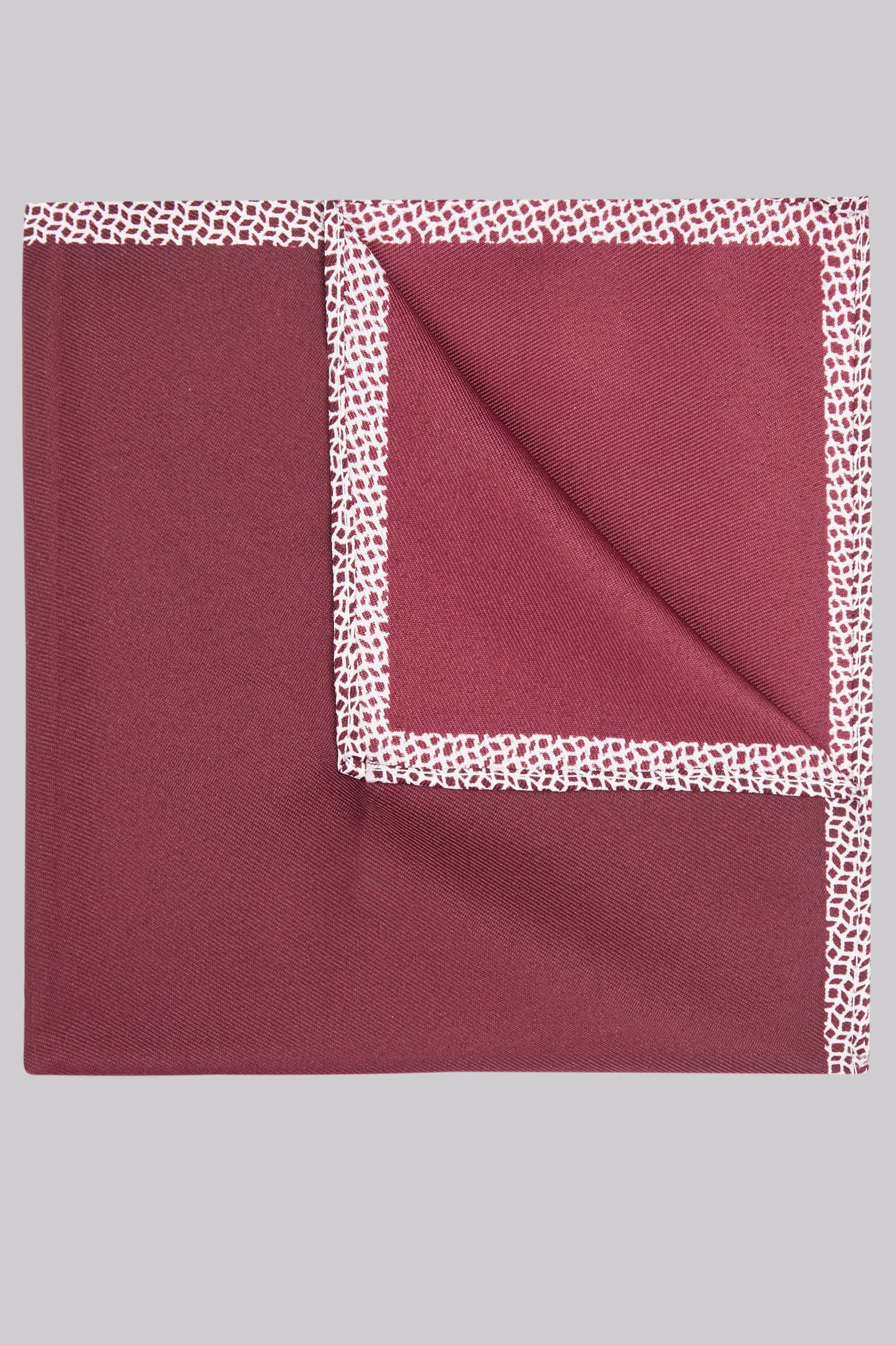 Moss Bros Moss London Wine Geo Border Pocket Square