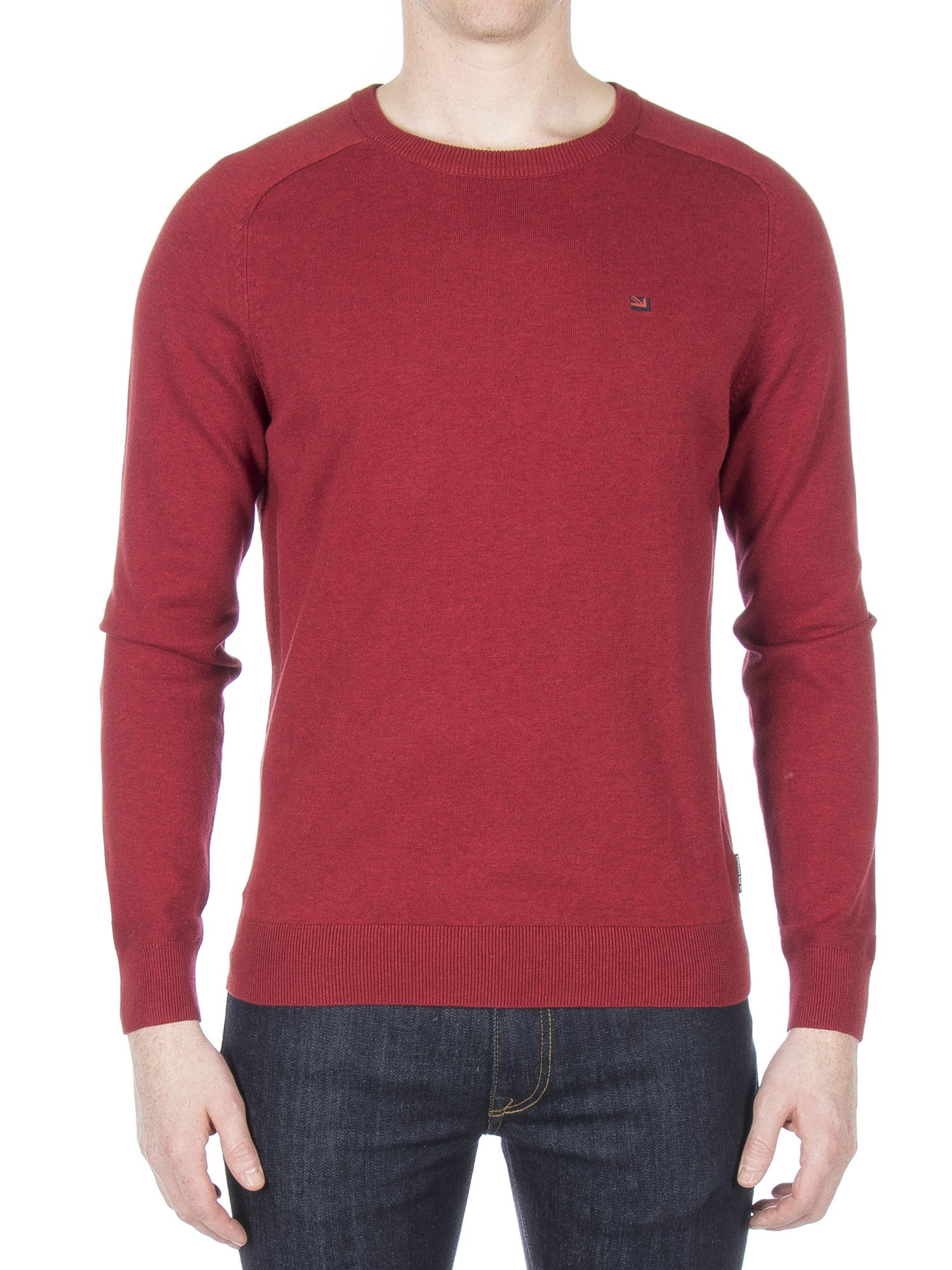 Ben Sherman Chilli Marl Cotton Crew Neck Jumper