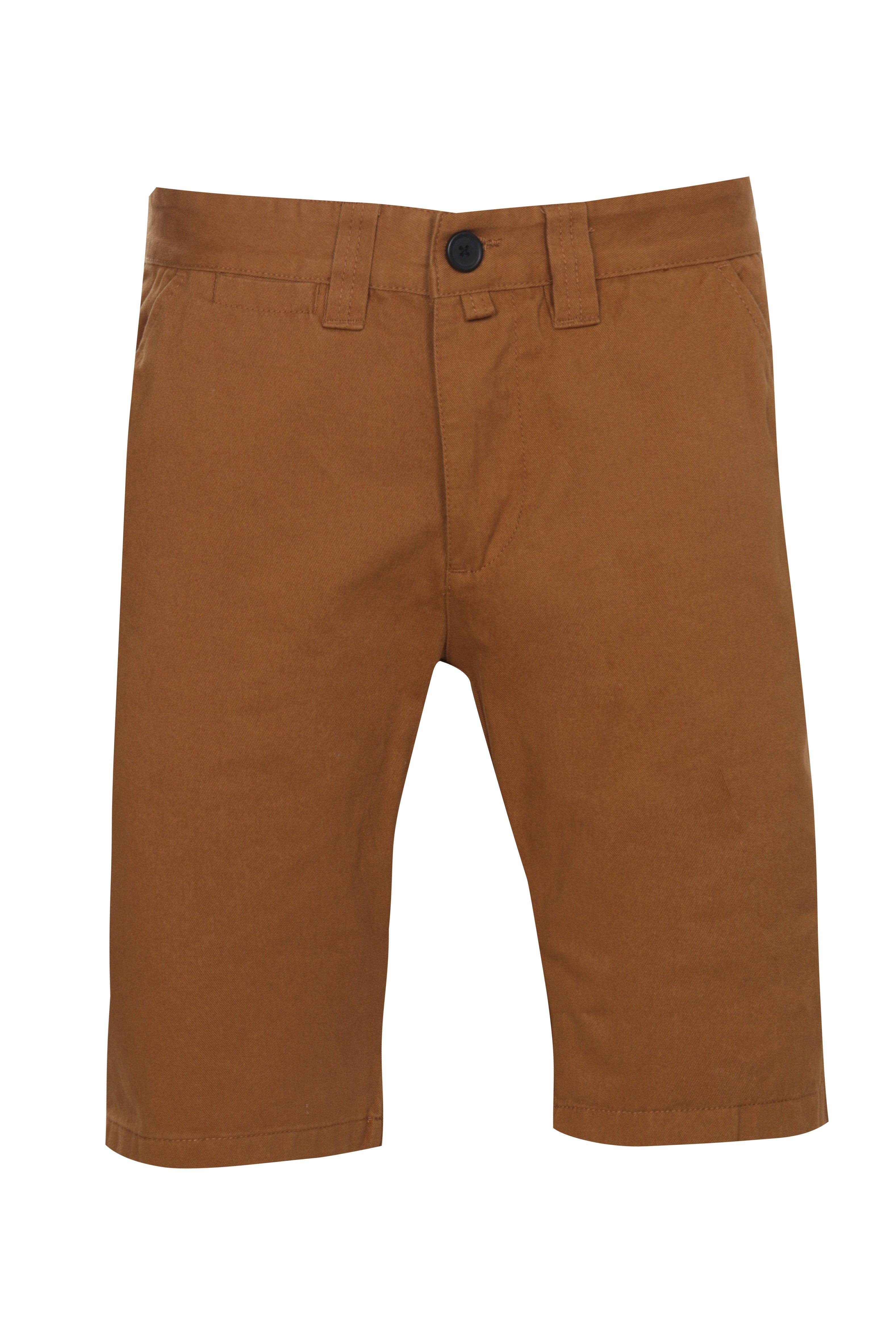 boohooMAN TOBACCO Tabacco Slim Fit Chino Short
