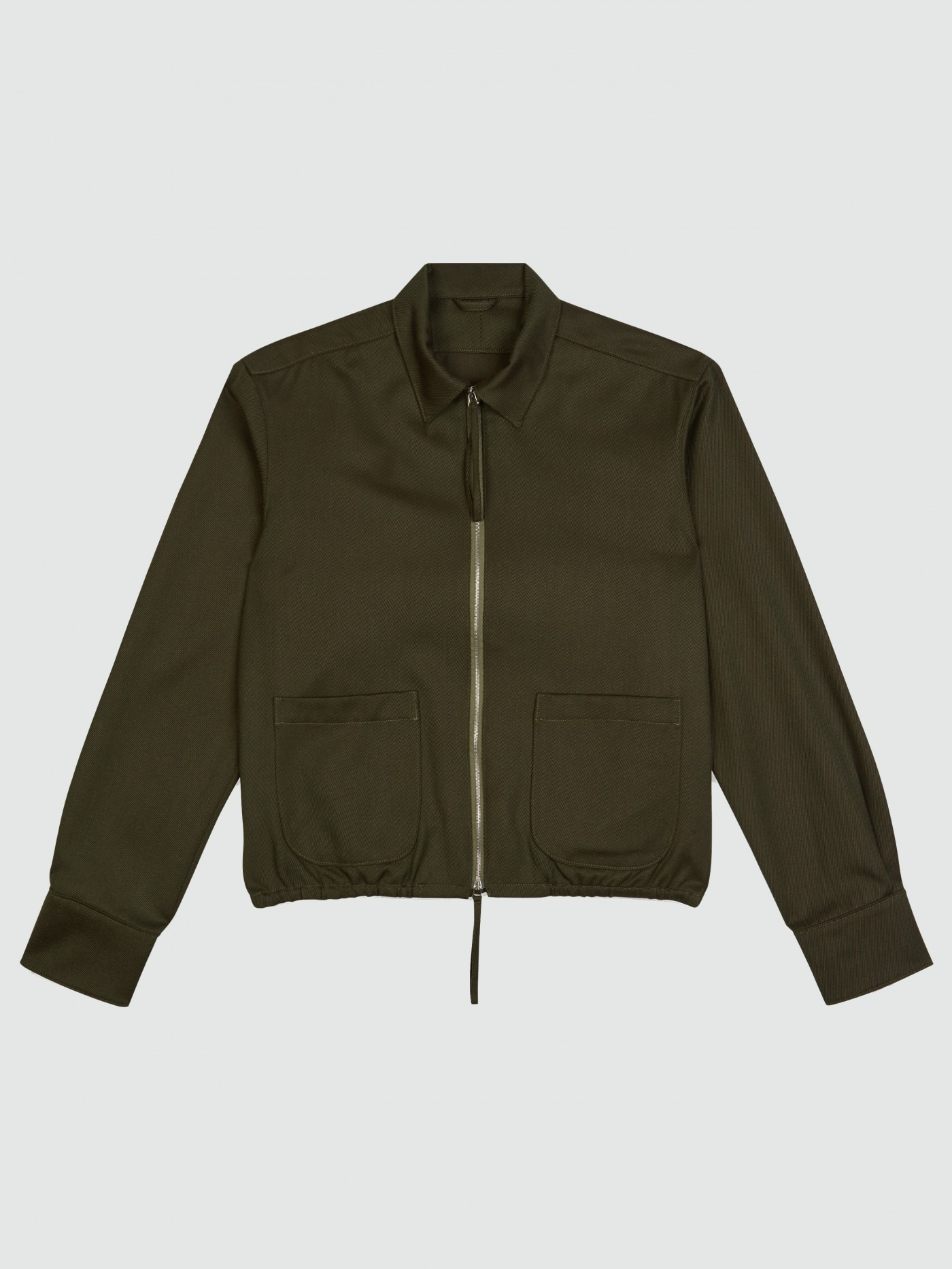 E. Tautz Army Green Whipcord Torquay Jacket
