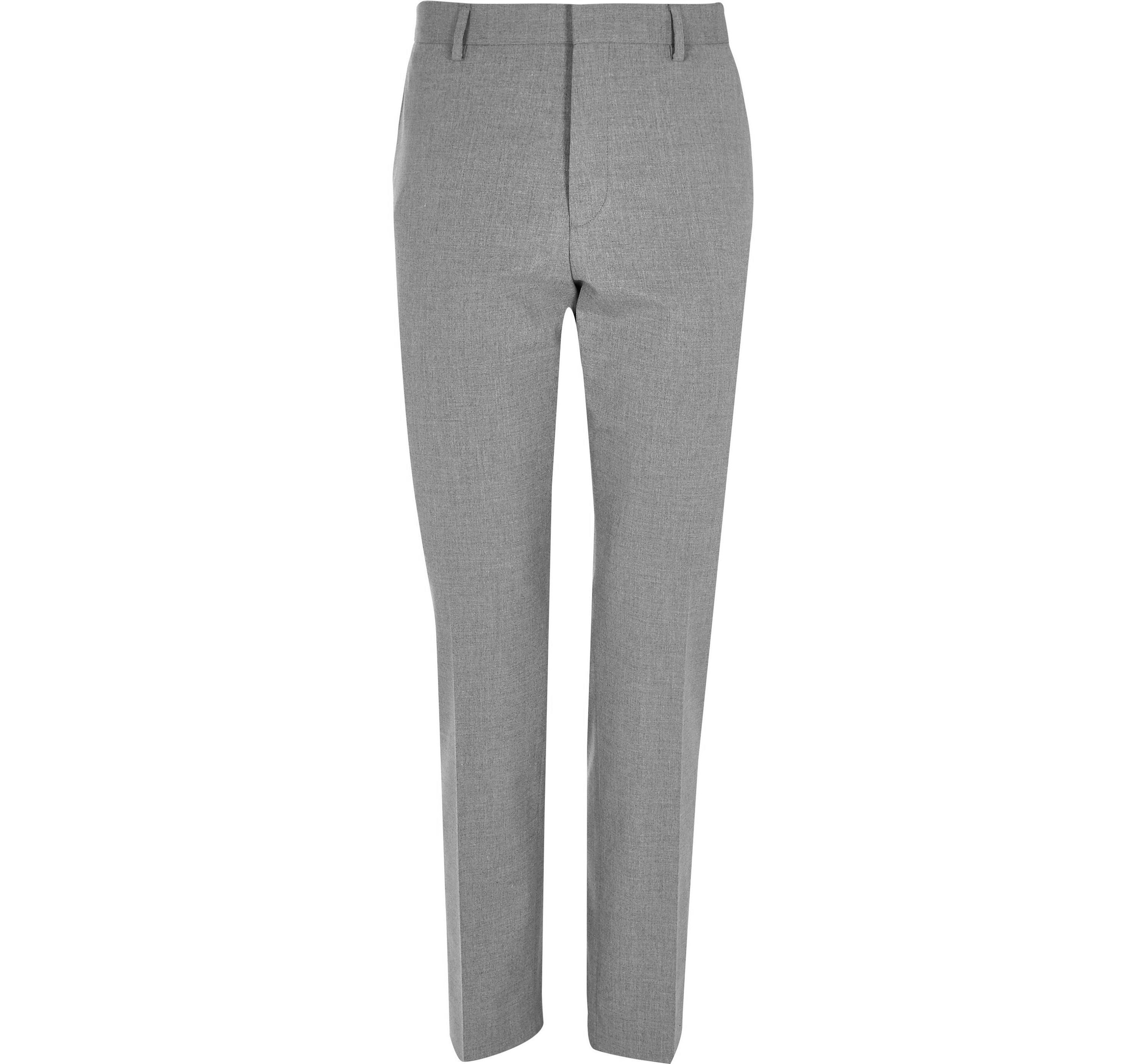River Island Mens Big and Tall Grey slim fit suit trousers