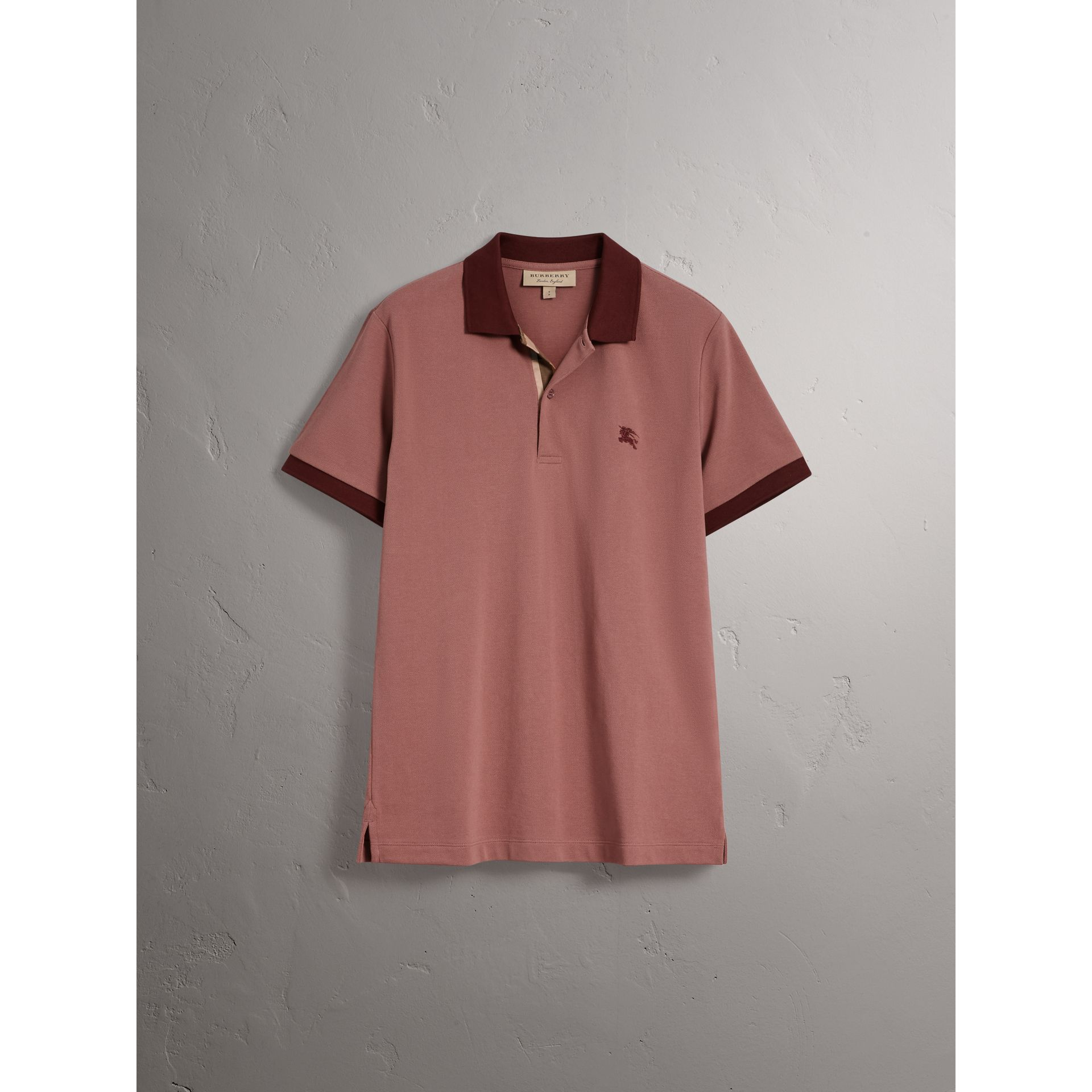 Burberry Rosewood Cotton Piqué Polo Shirt