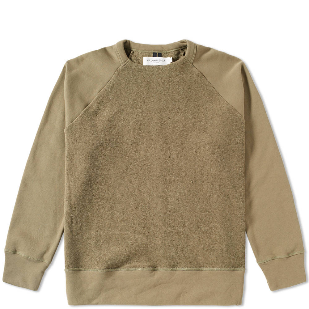 Mr. Completely Olive Reverse Front Crew Sweat