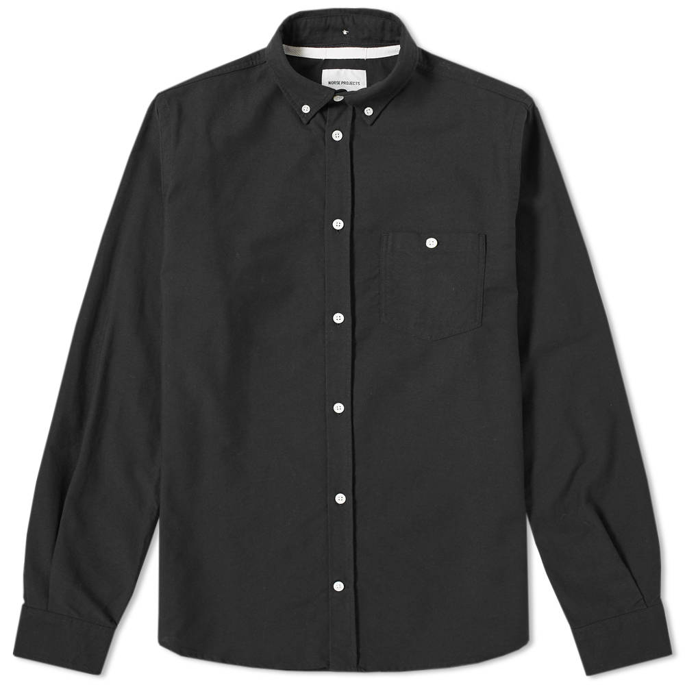 Norse Projects Black Anton Oxford Shirt