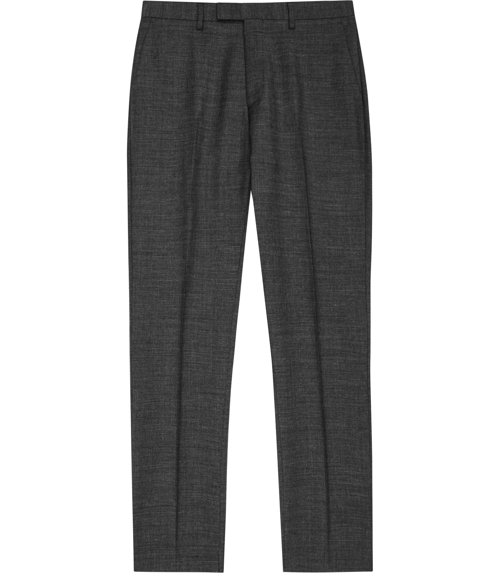 Reiss Charcoal Mitre T Wool Modern-Fit Trousers