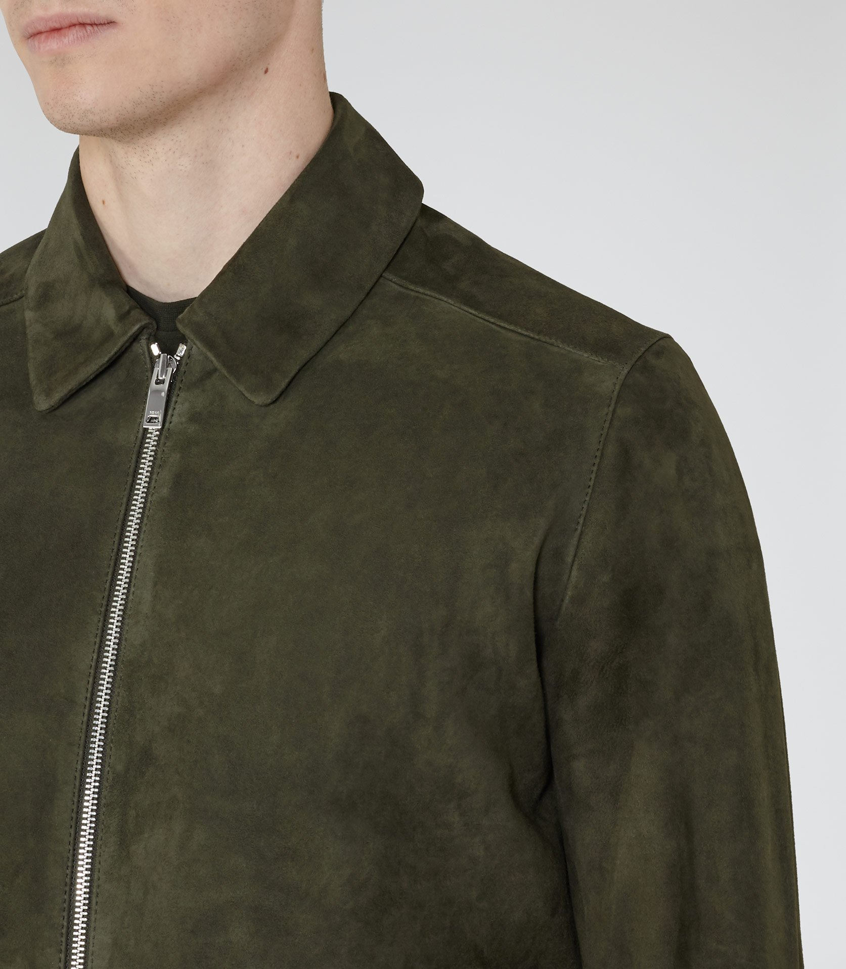 e1ea2ebcc Holt Suede Collared Jacket by Reiss
