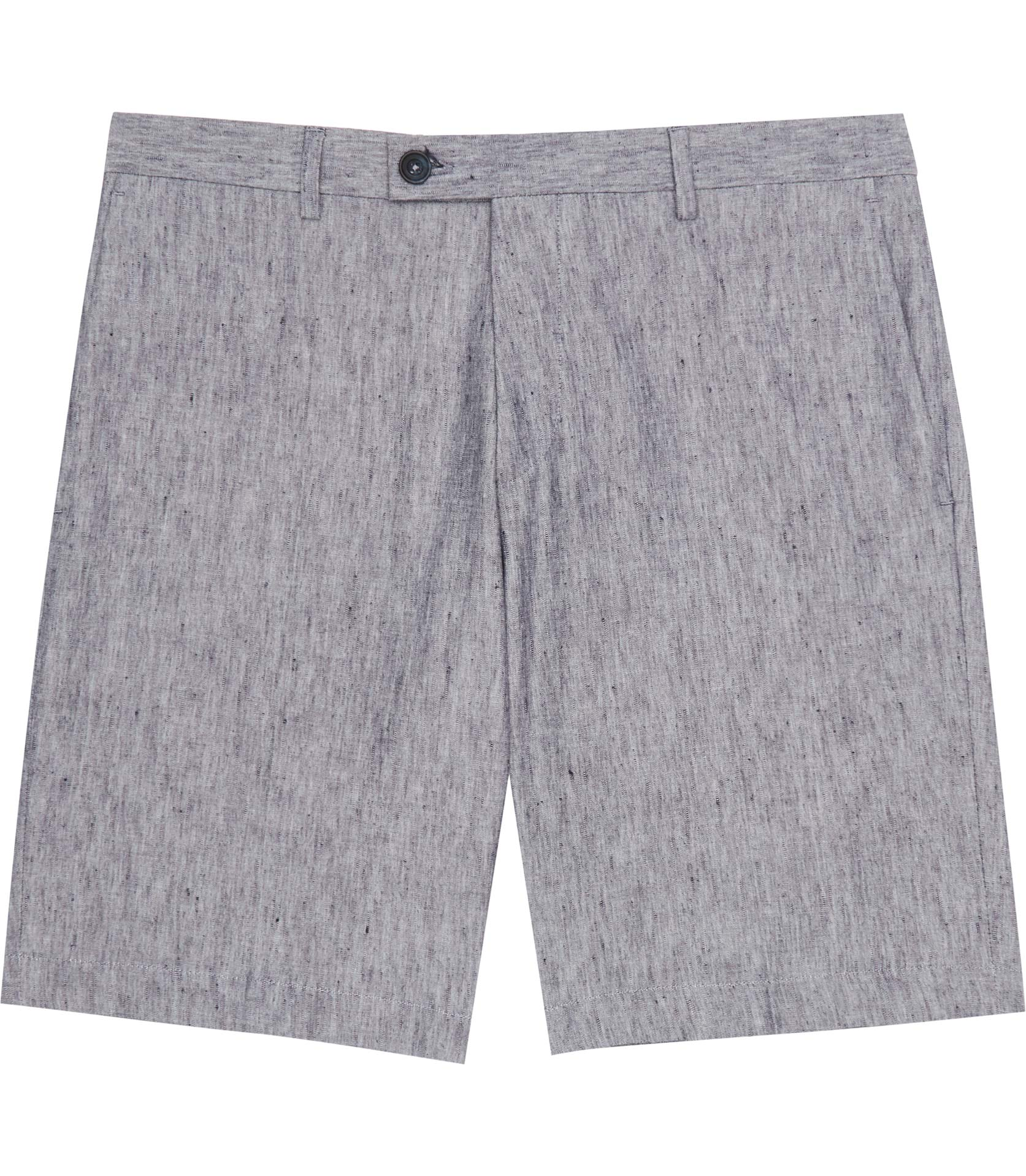 Reiss Blue Galoway Linen And Cotton Shorts