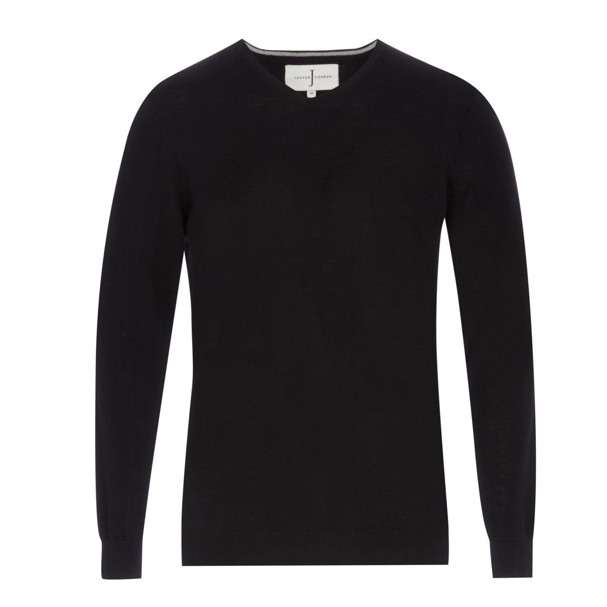 J by Jasper Conran Black Merino wool V neck jumper