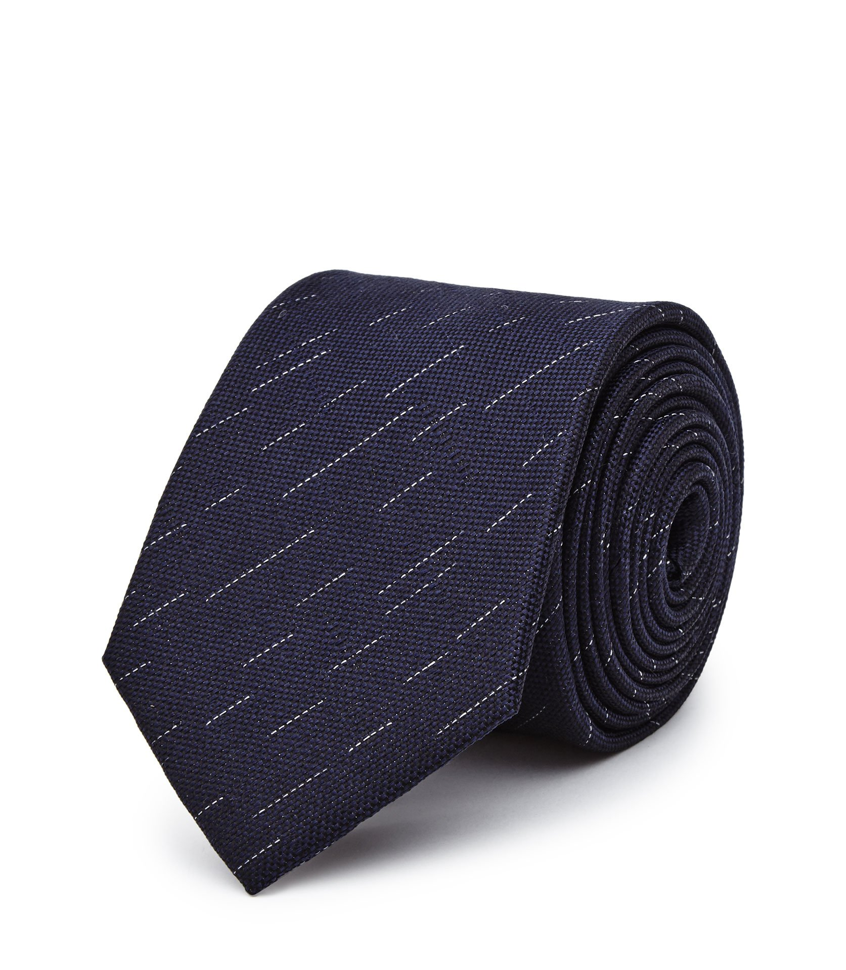 Reiss Navy Malta Silk Patterned Tie