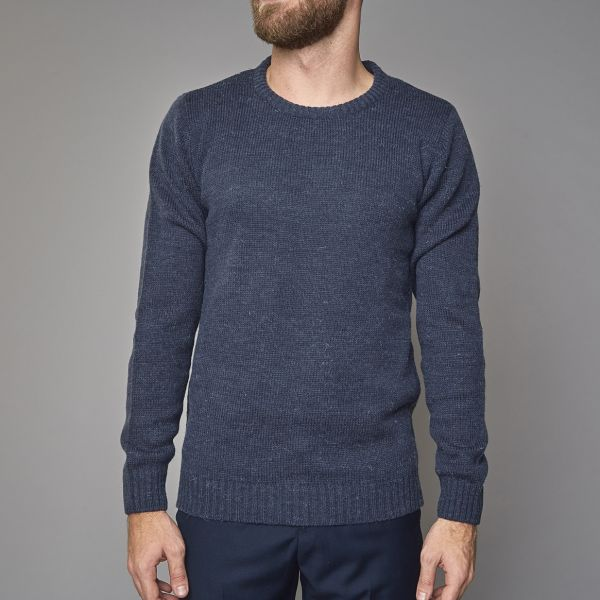 Suit Navy O-Neck Sweater