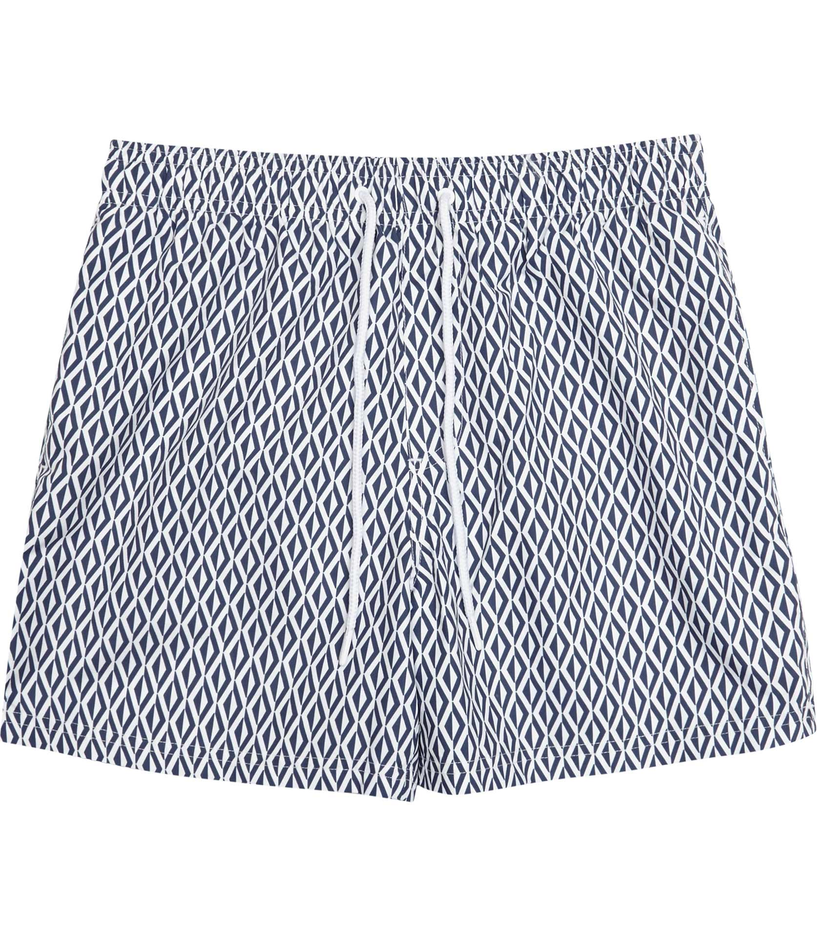 Reiss Navy Oliver Geometric Print Swim Shorts