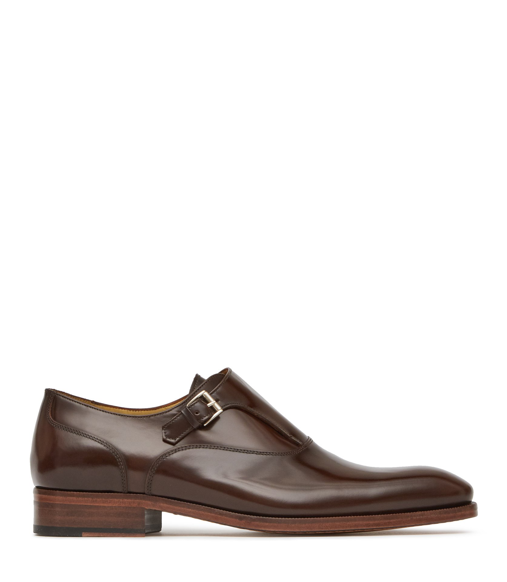 Reiss Brown Calwer Monk Strap Shoes