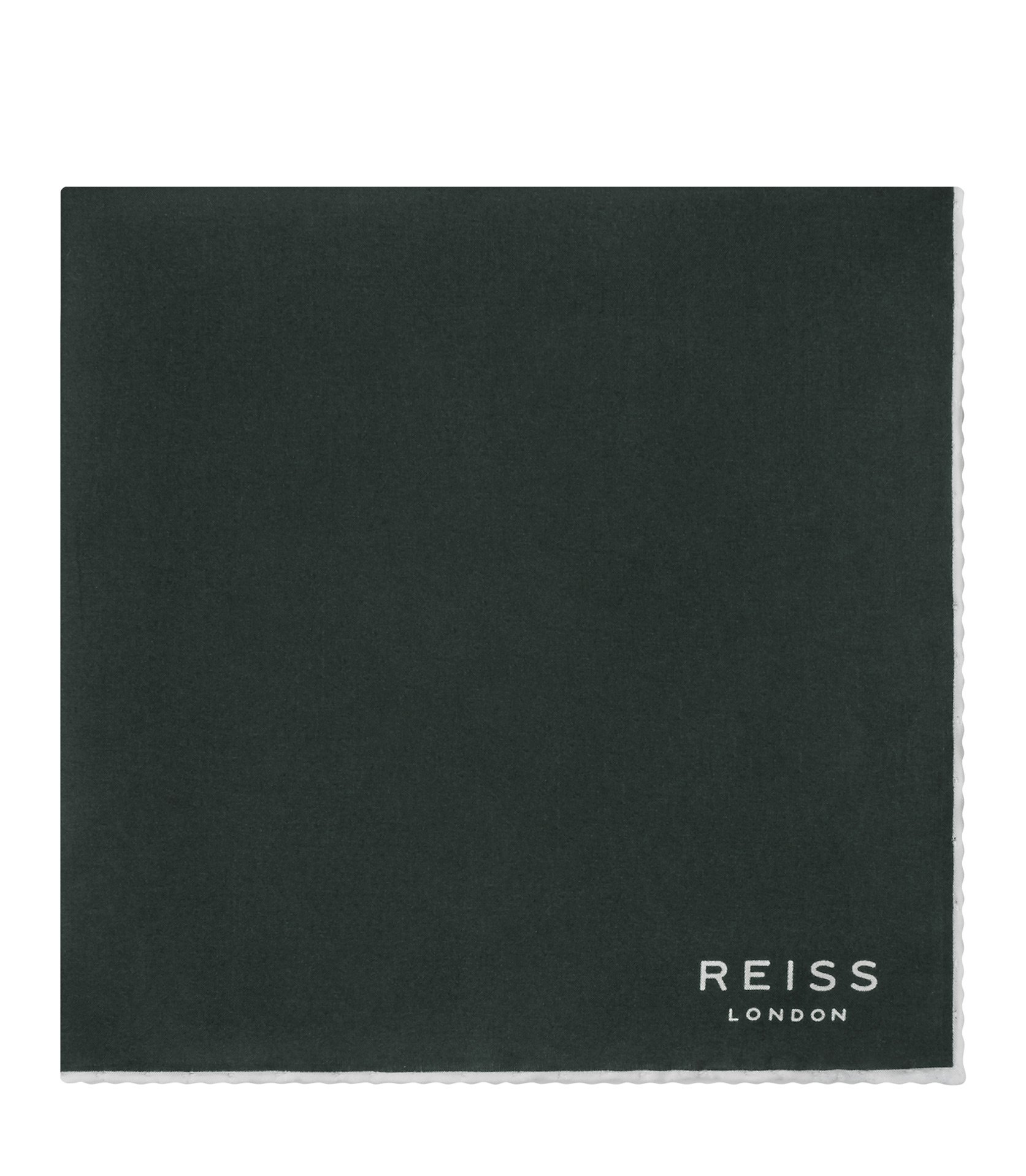 Reiss Emerald Horner Silk Piped Pocket Square