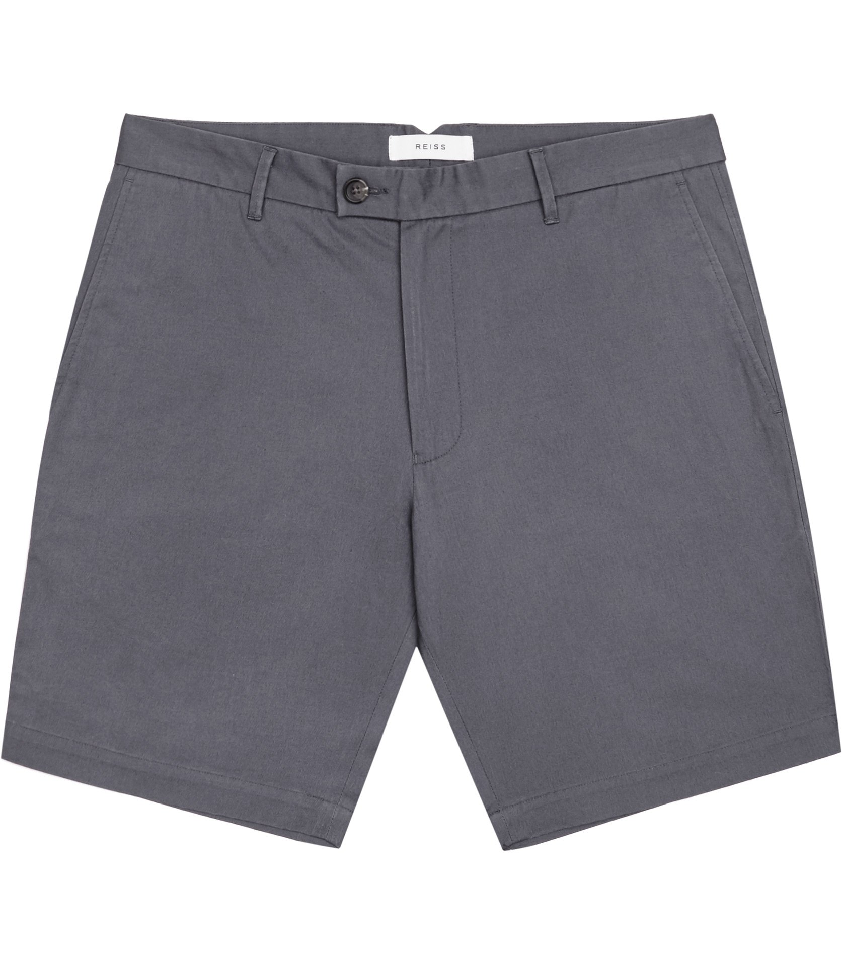 Reiss Airforce Blue Wicker Tailored Cotton Shorts