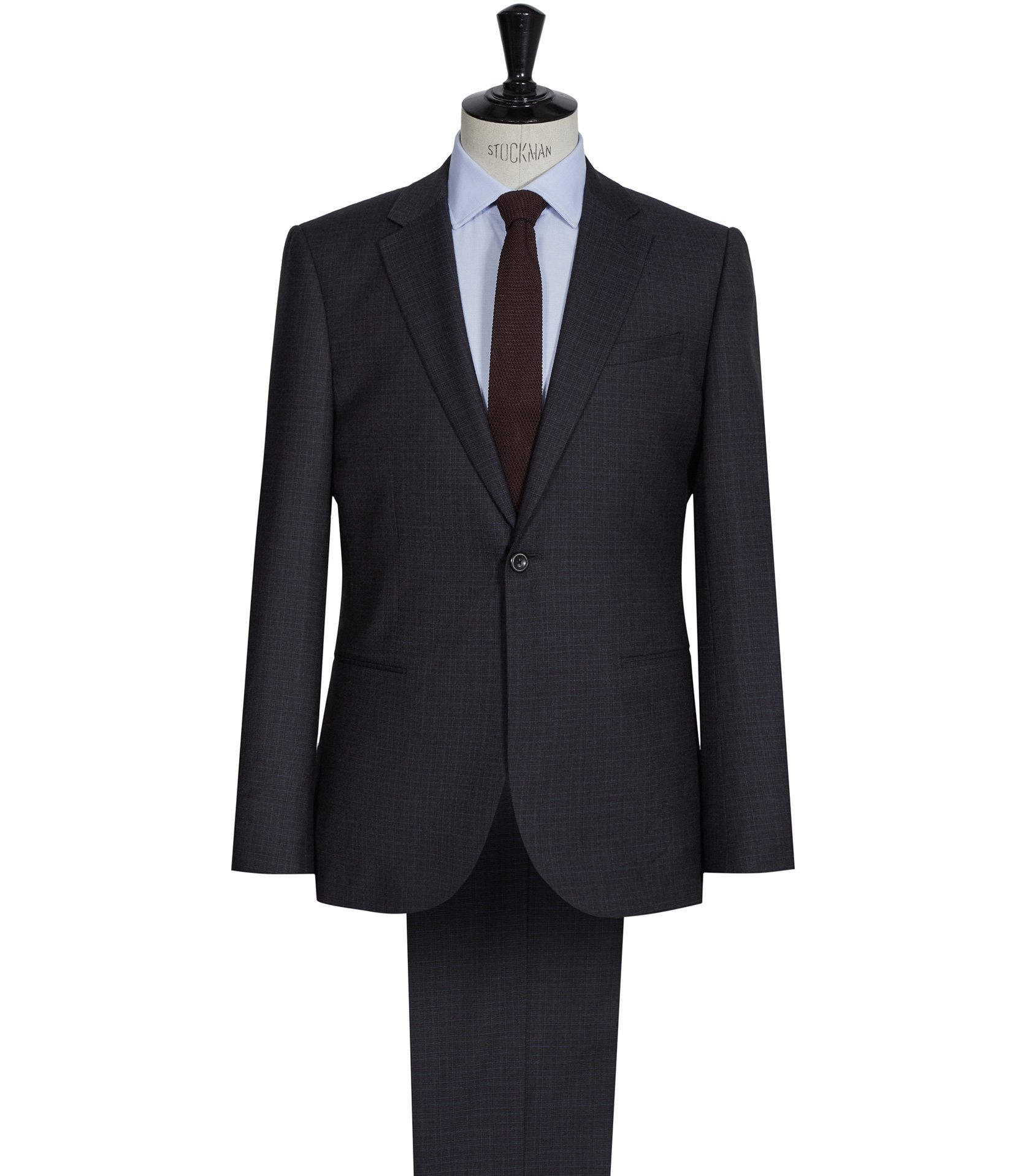 Reiss Charcoal Corporal Modern Wool Suit