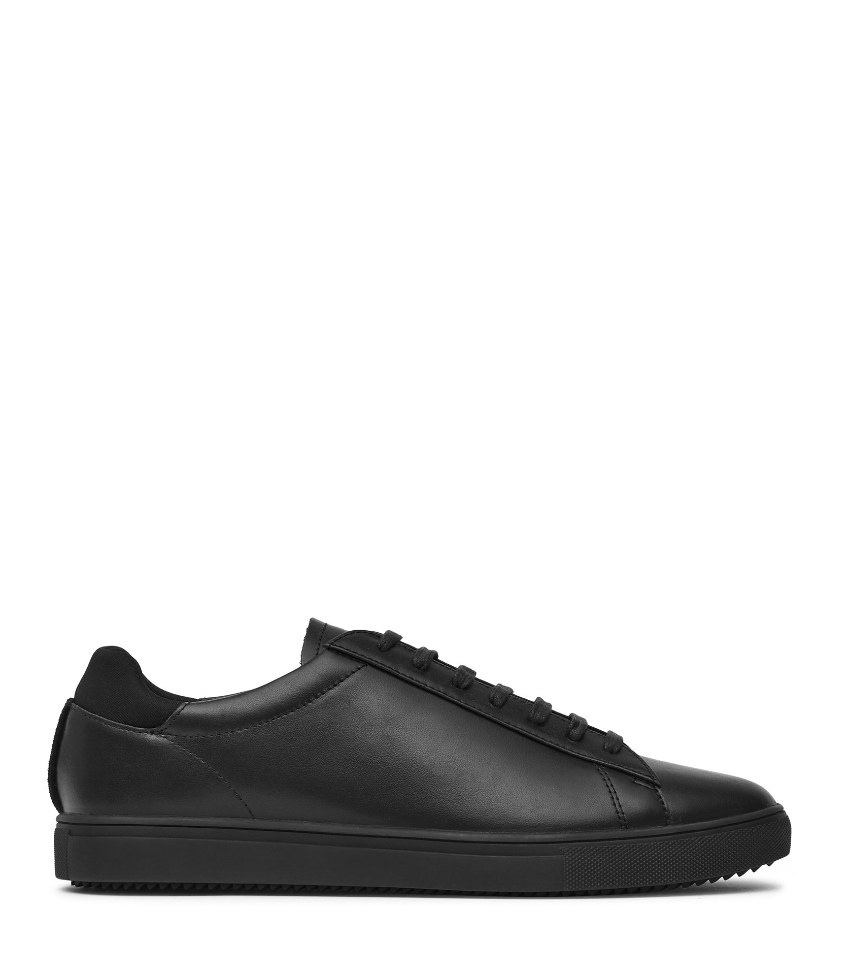 Reiss Black Clae Leather Sneakers