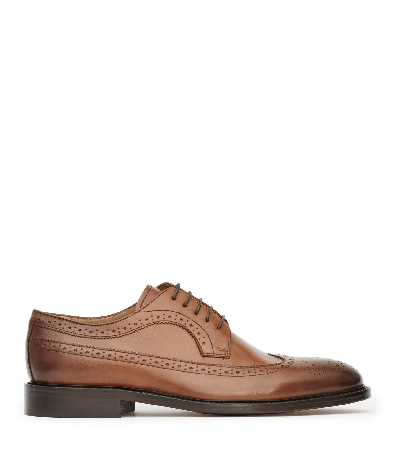 Reiss Brown Ash Leather Brogues