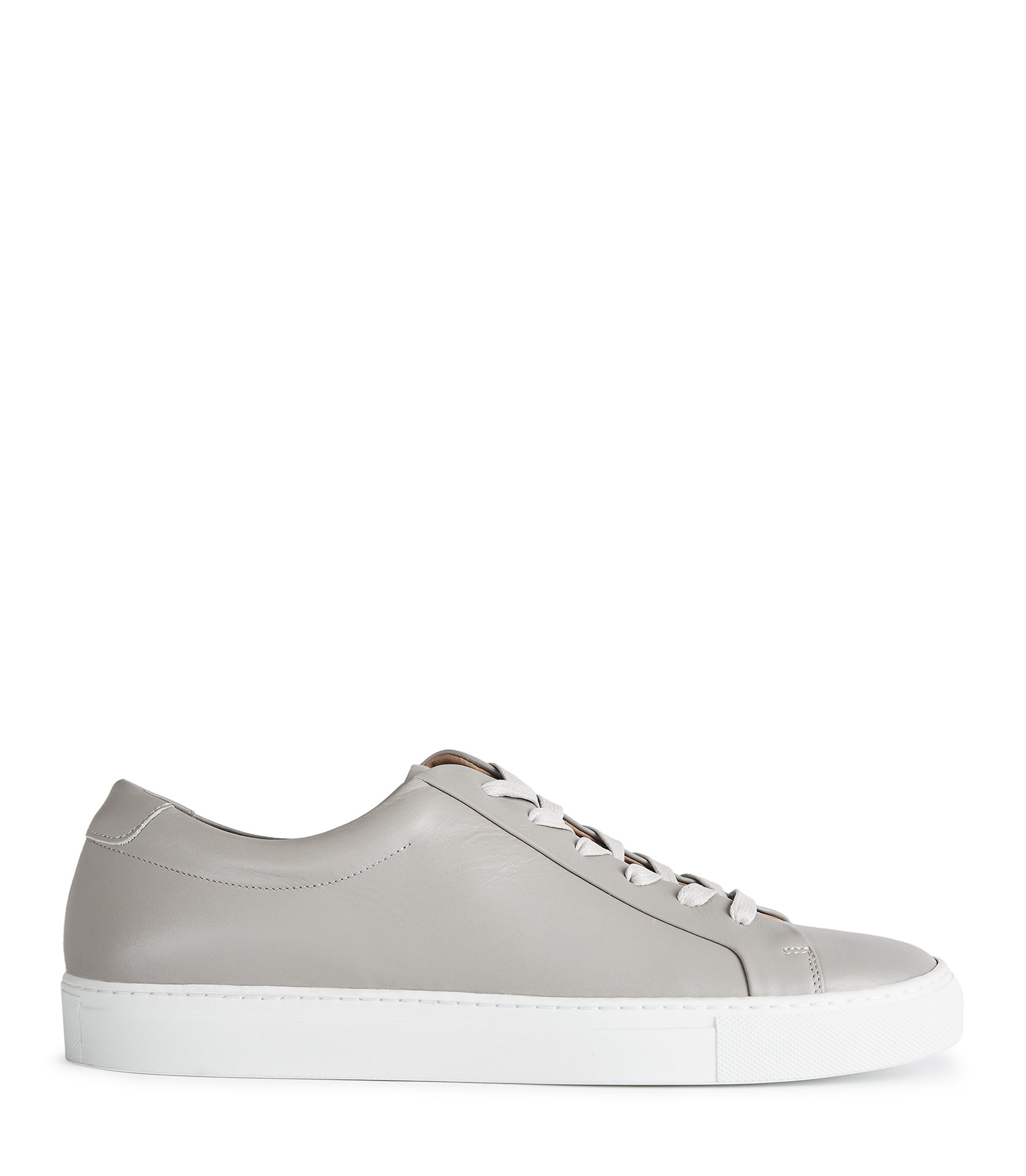 Reiss Grey Darren Leather Sneakers