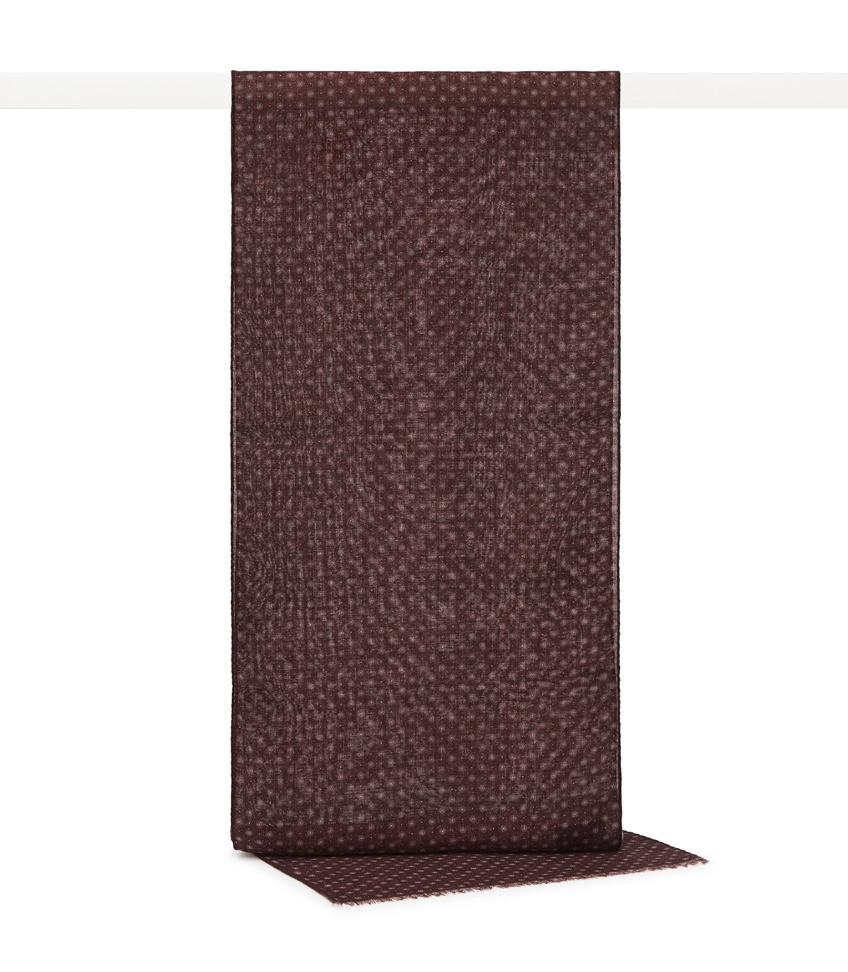Reiss Burgundy Owens Wool Polka Dot Scarf
