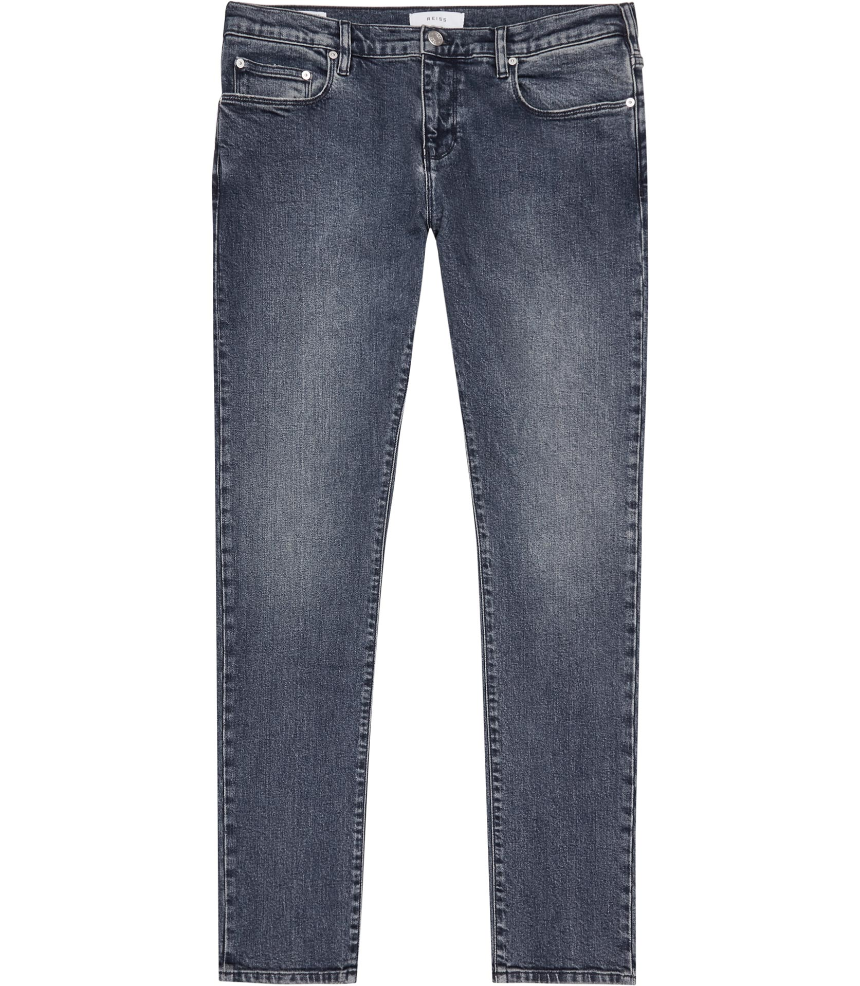 Reiss Mid Blue Tapered Slim Jeans