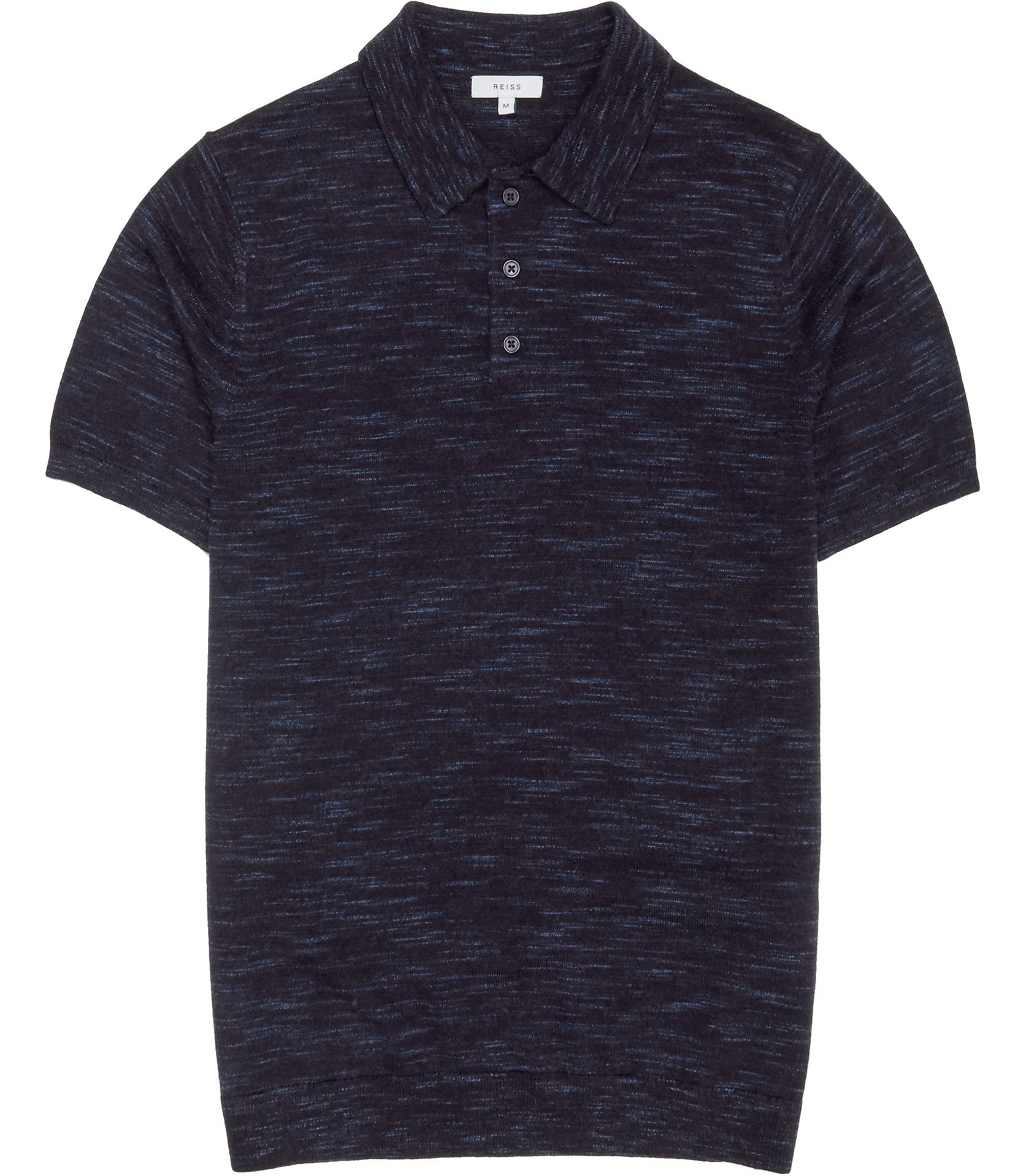 Reiss Airforce Blue Junior Flecked Weave Polo Shirt