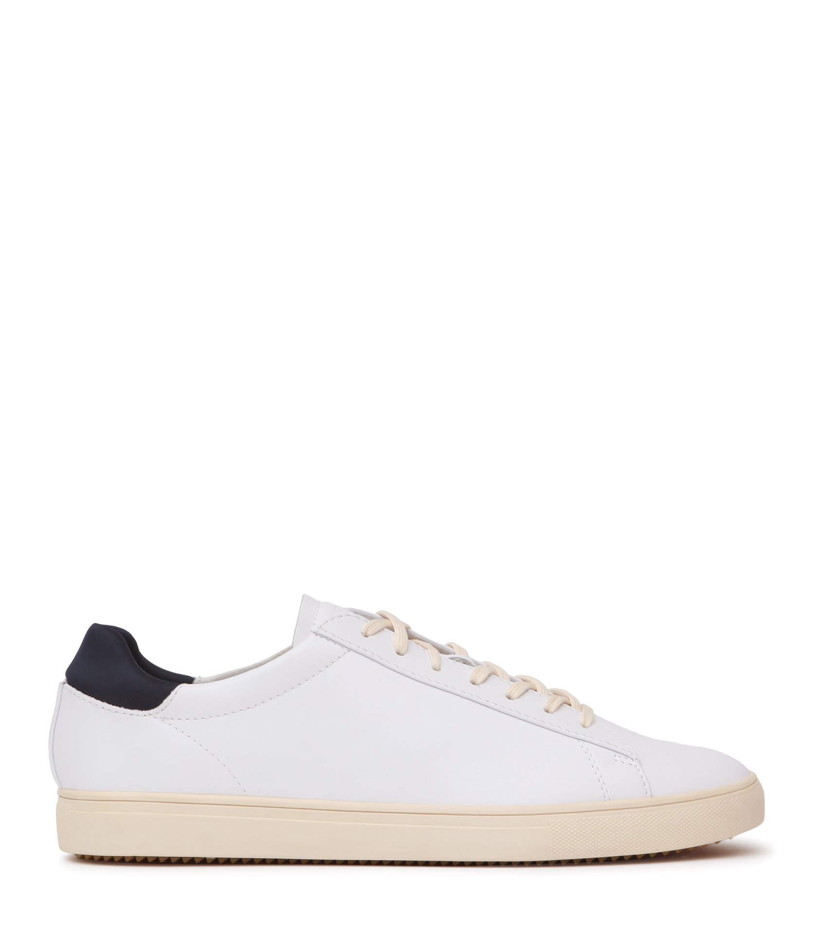 Reiss White Bradley Clae Leather Sneakers